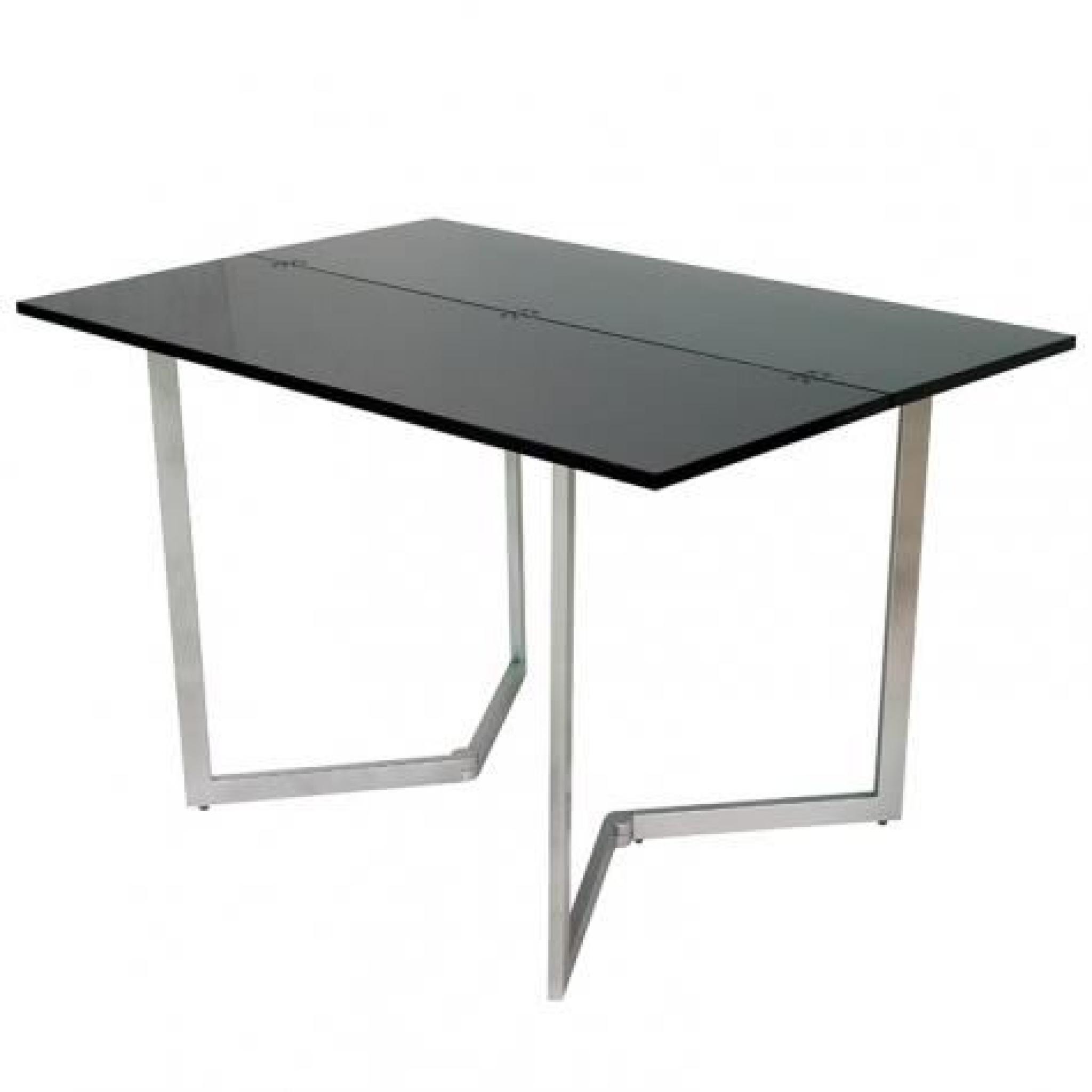 table console mural extensible noir xena achat vente ensemble salle a manger pas cher. Black Bedroom Furniture Sets. Home Design Ideas