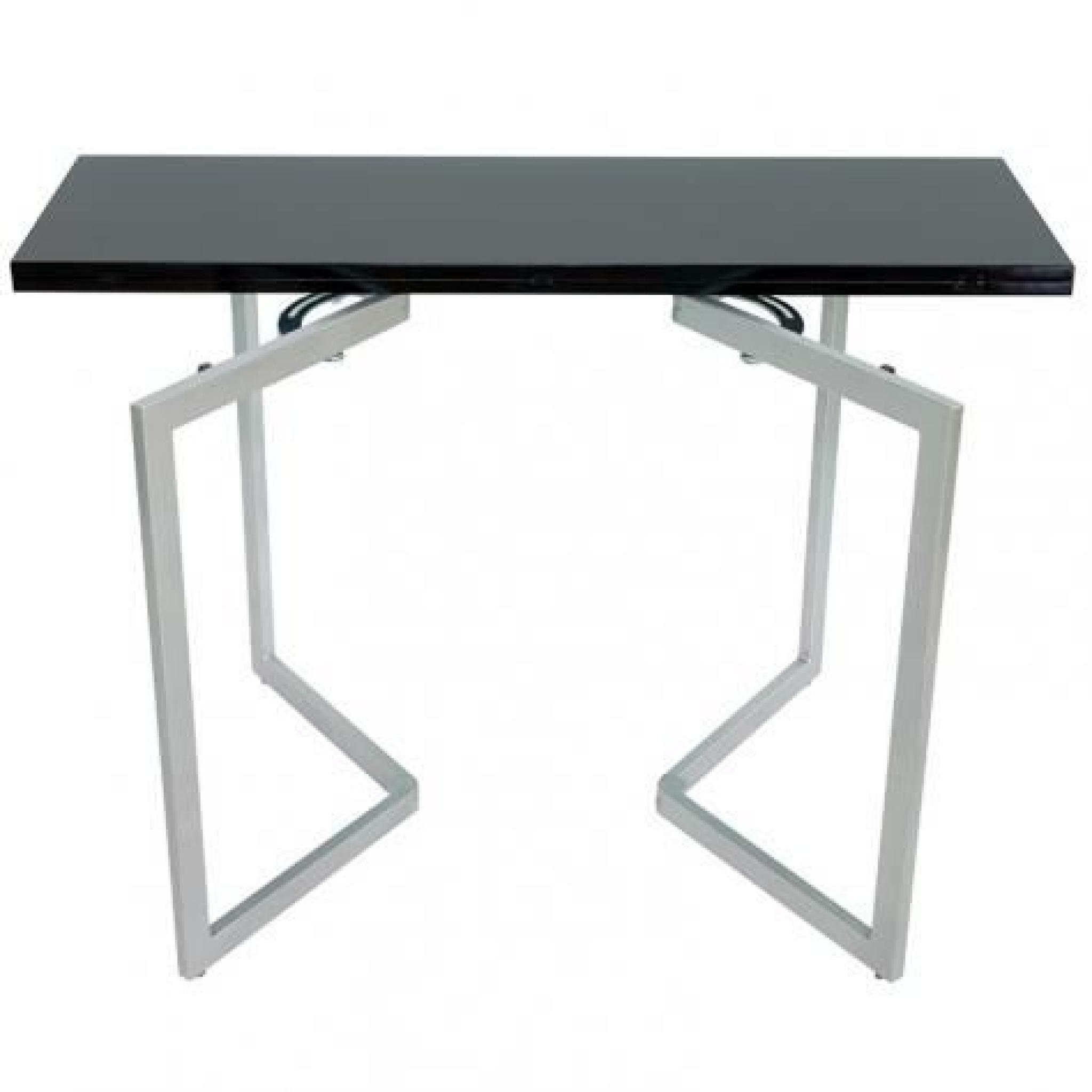 table console mural extensible noir xena achat vente. Black Bedroom Furniture Sets. Home Design Ideas