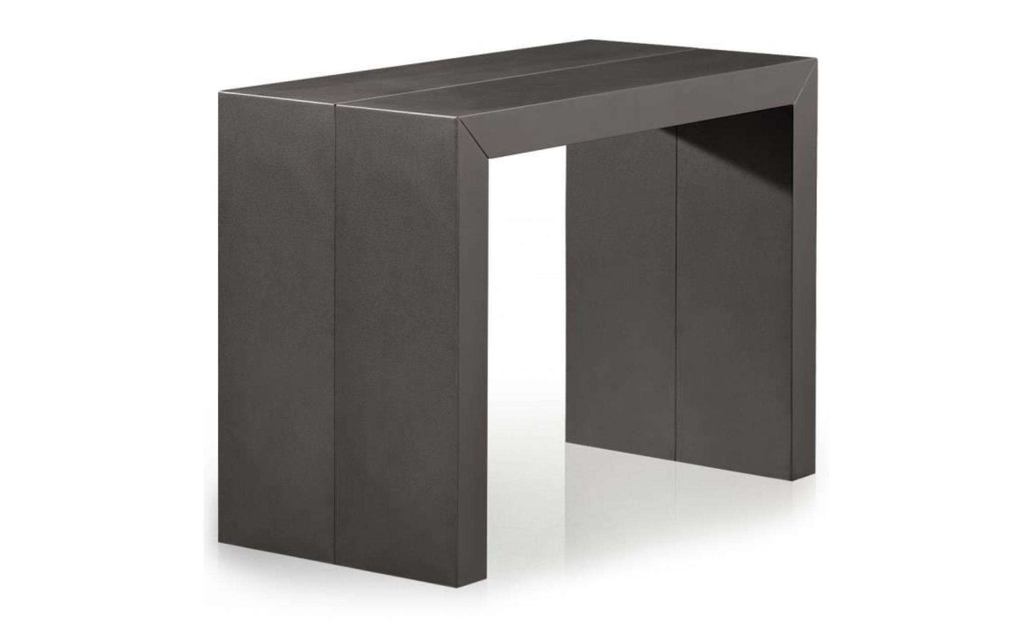 table console nassau xl gris carbone achat vente. Black Bedroom Furniture Sets. Home Design Ideas