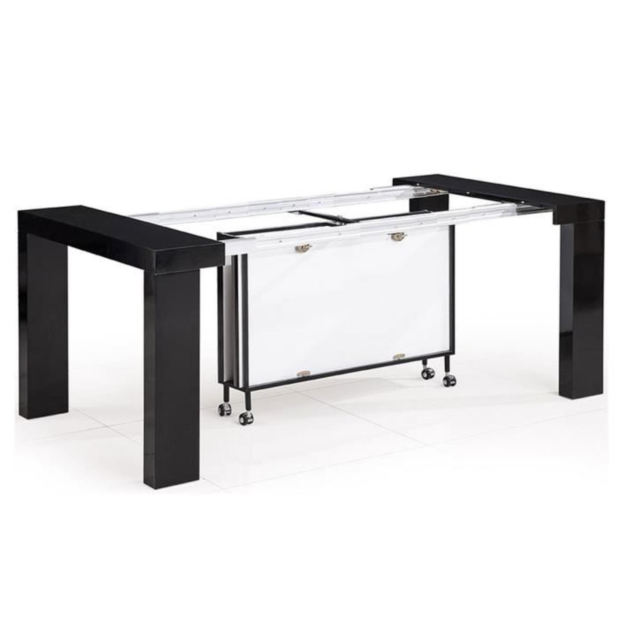 table console noir grande taille bois mdf laqu lamancha. Black Bedroom Furniture Sets. Home Design Ideas