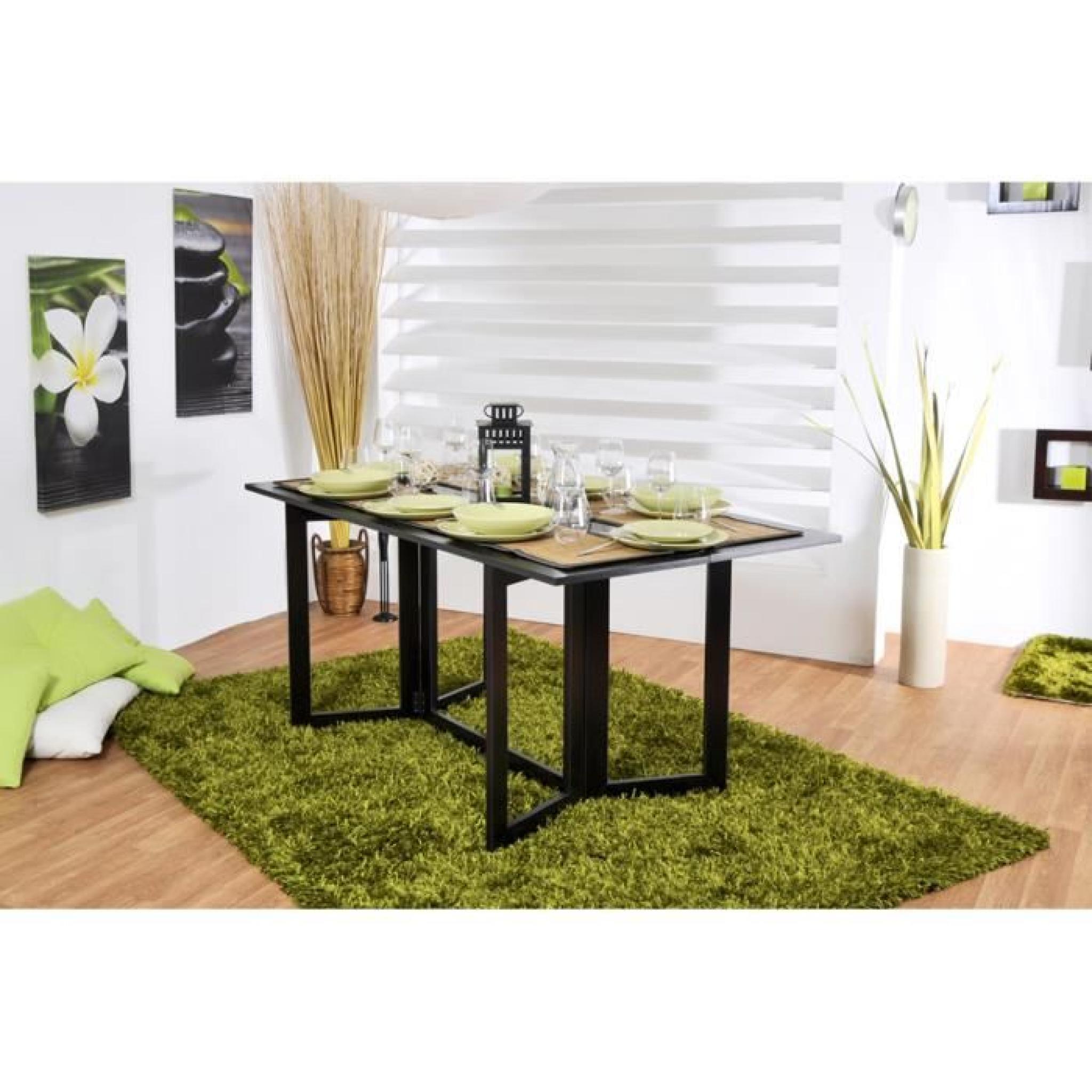 table console rabattable weng espa achat vente console. Black Bedroom Furniture Sets. Home Design Ideas