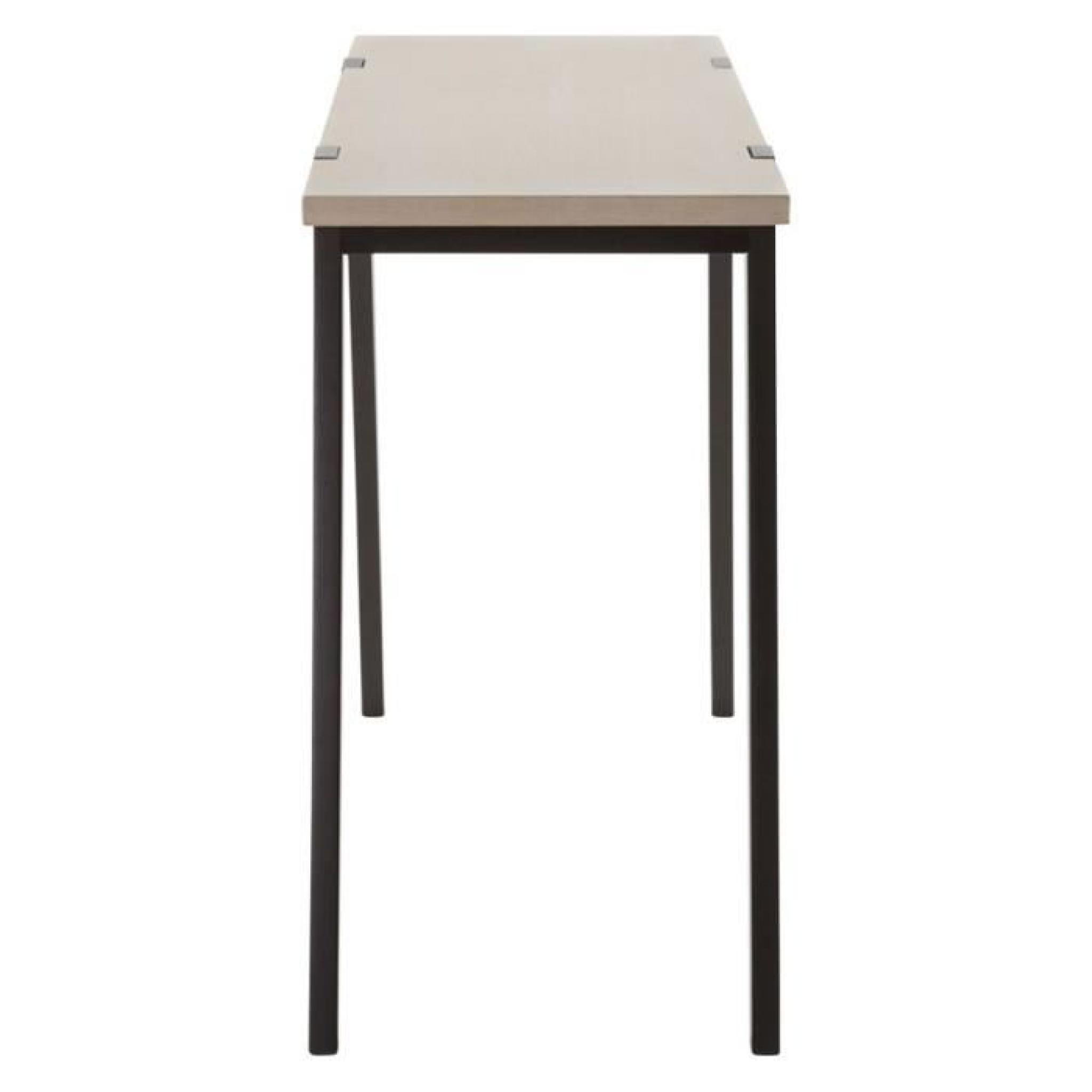 Table console 39 treto 39 design en bois ch ne achat vente - Table en chene massif pas cher ...