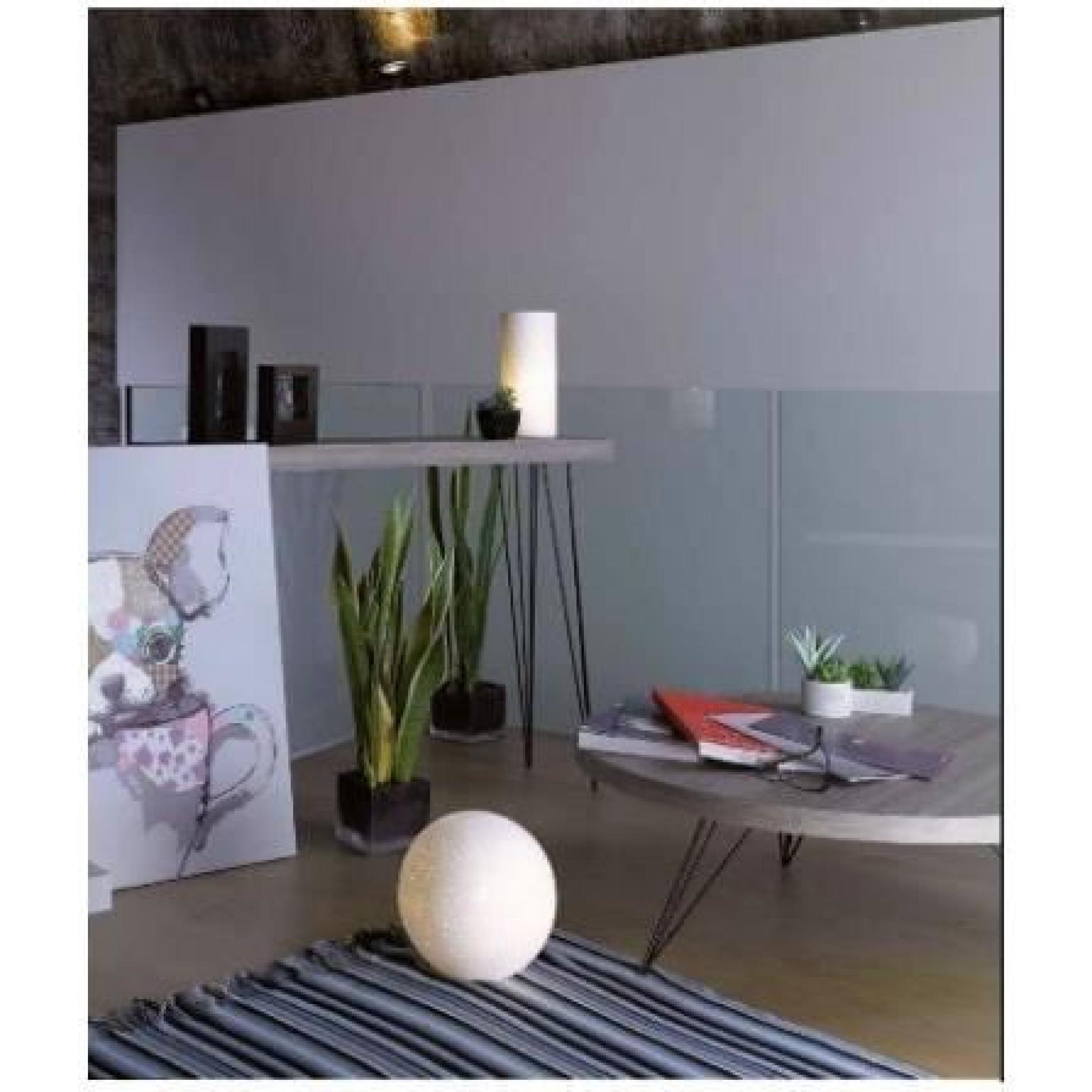 table d 39 entr e console en bois et m tal noir dallas. Black Bedroom Furniture Sets. Home Design Ideas