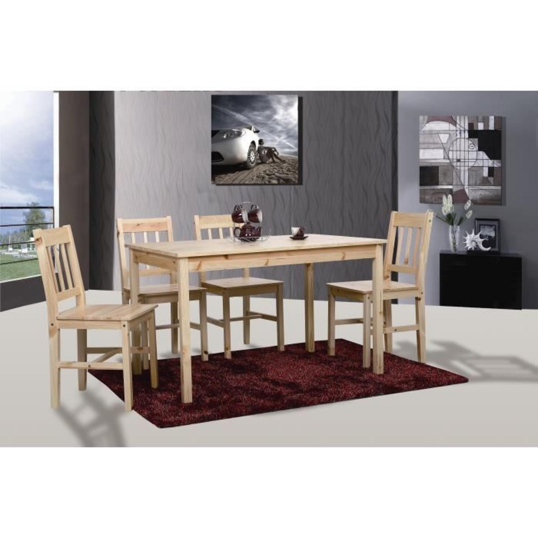 Table de cuisine salle à manger + 4 chaises BASTIA - Achat ...