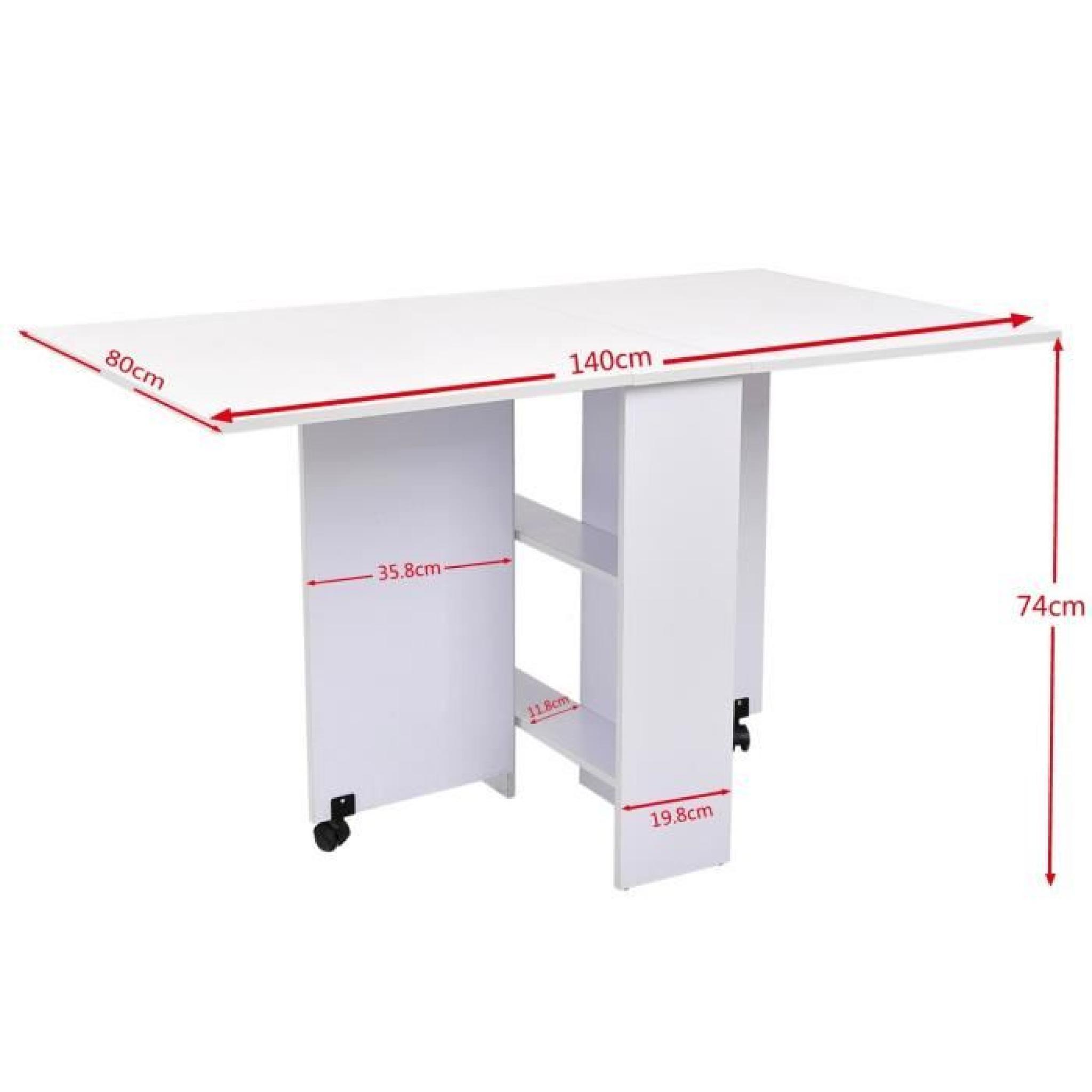 table de cuisine salle manger pliable amovible achat vente table salle a manger pas cher. Black Bedroom Furniture Sets. Home Design Ideas