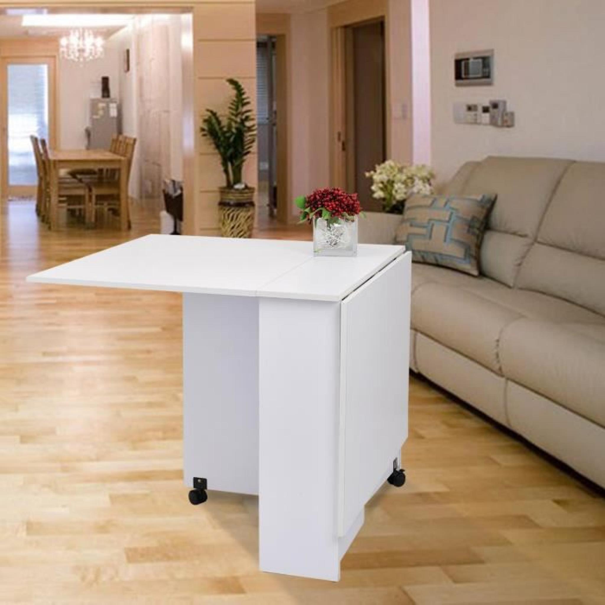 table de cuisine salle manger pliable amovible t achat. Black Bedroom Furniture Sets. Home Design Ideas
