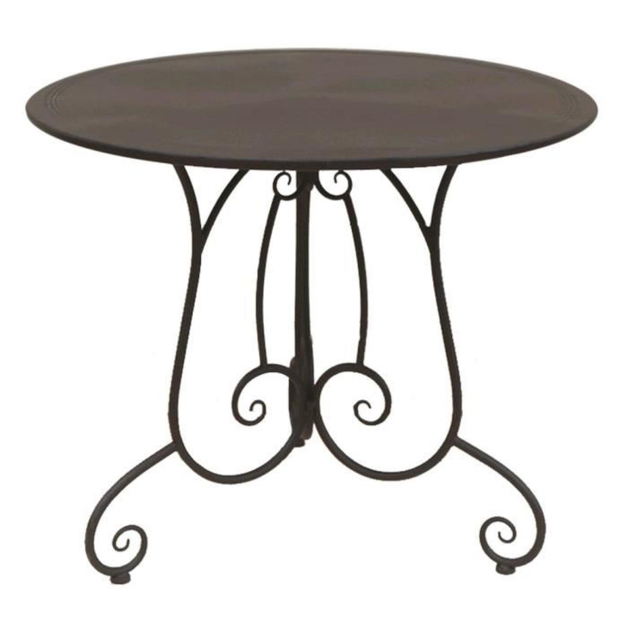 TABLE DE JARDIN FER FORGE CHARME