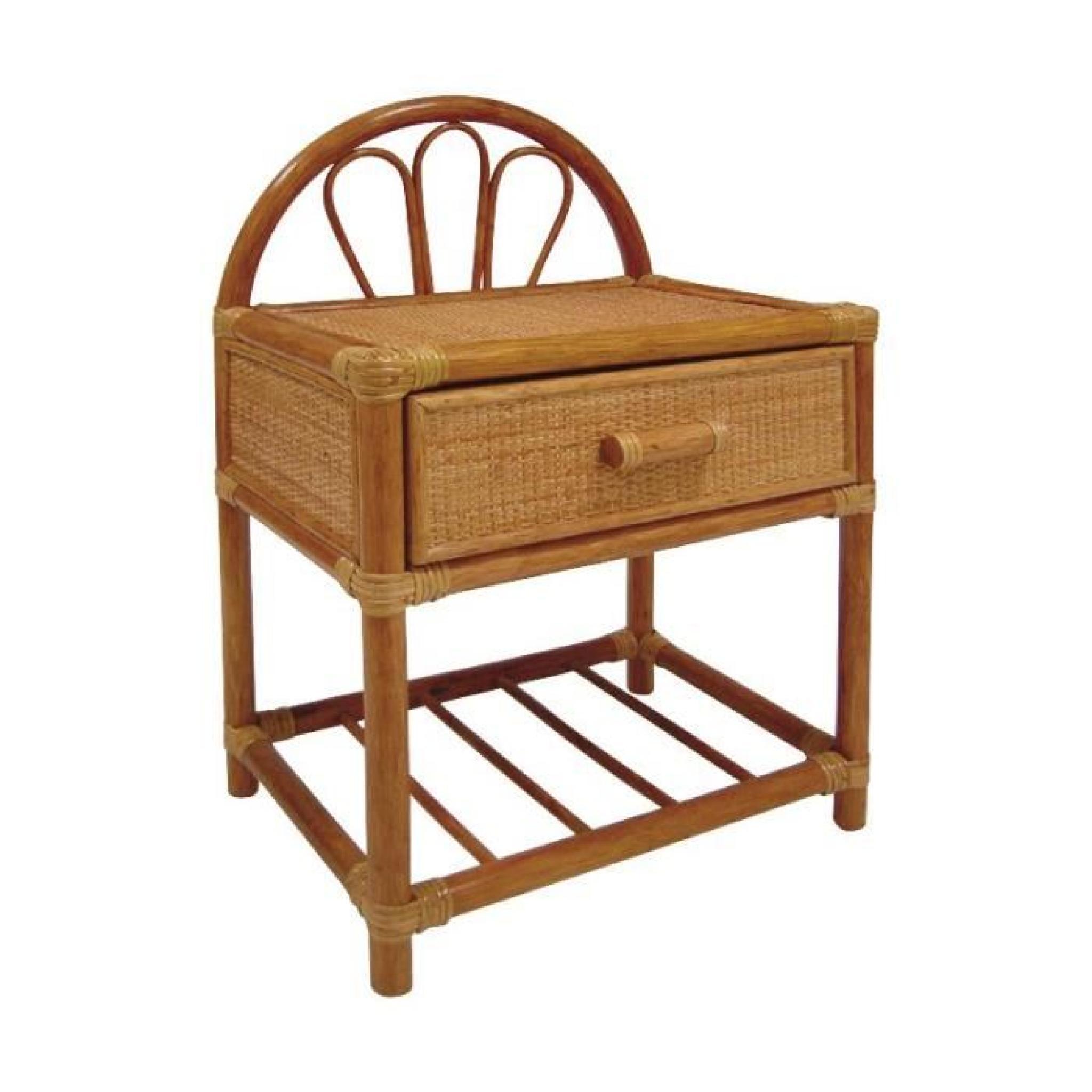 table de nuit en rotin achat vente table de chevet pas cher couleur et. Black Bedroom Furniture Sets. Home Design Ideas