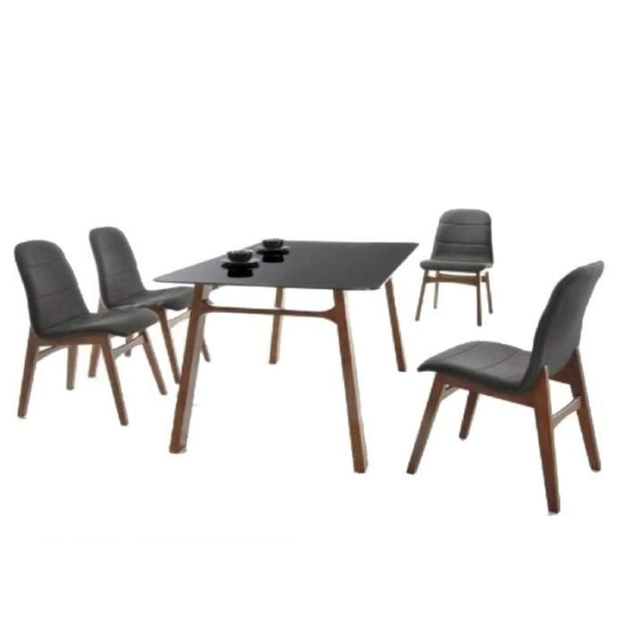 table de repas jenja noir paris prix achat vente table salle a manger pas cher couleur. Black Bedroom Furniture Sets. Home Design Ideas