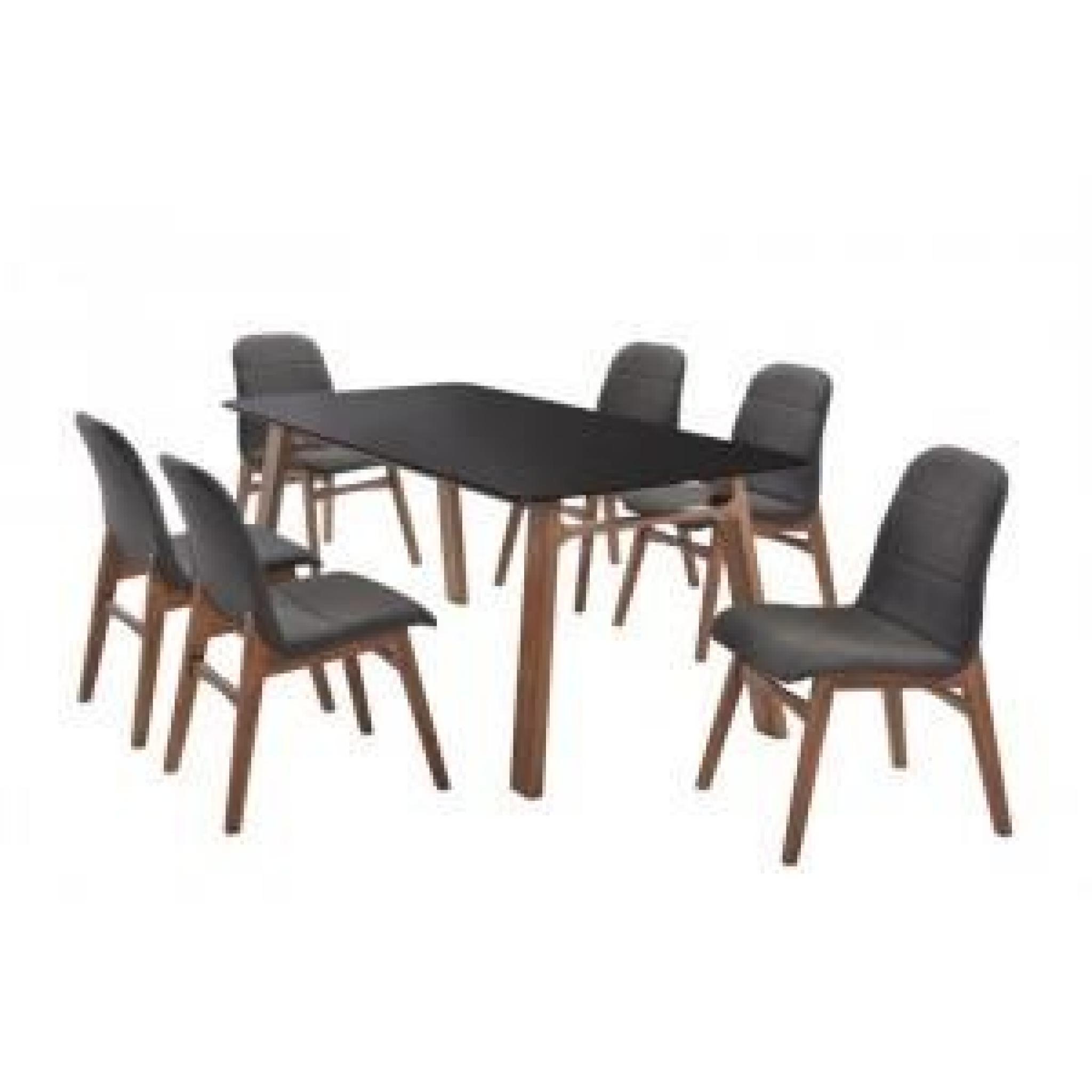 Table de repas jenja noir paris prix achat vente for Table salle a manger design paris