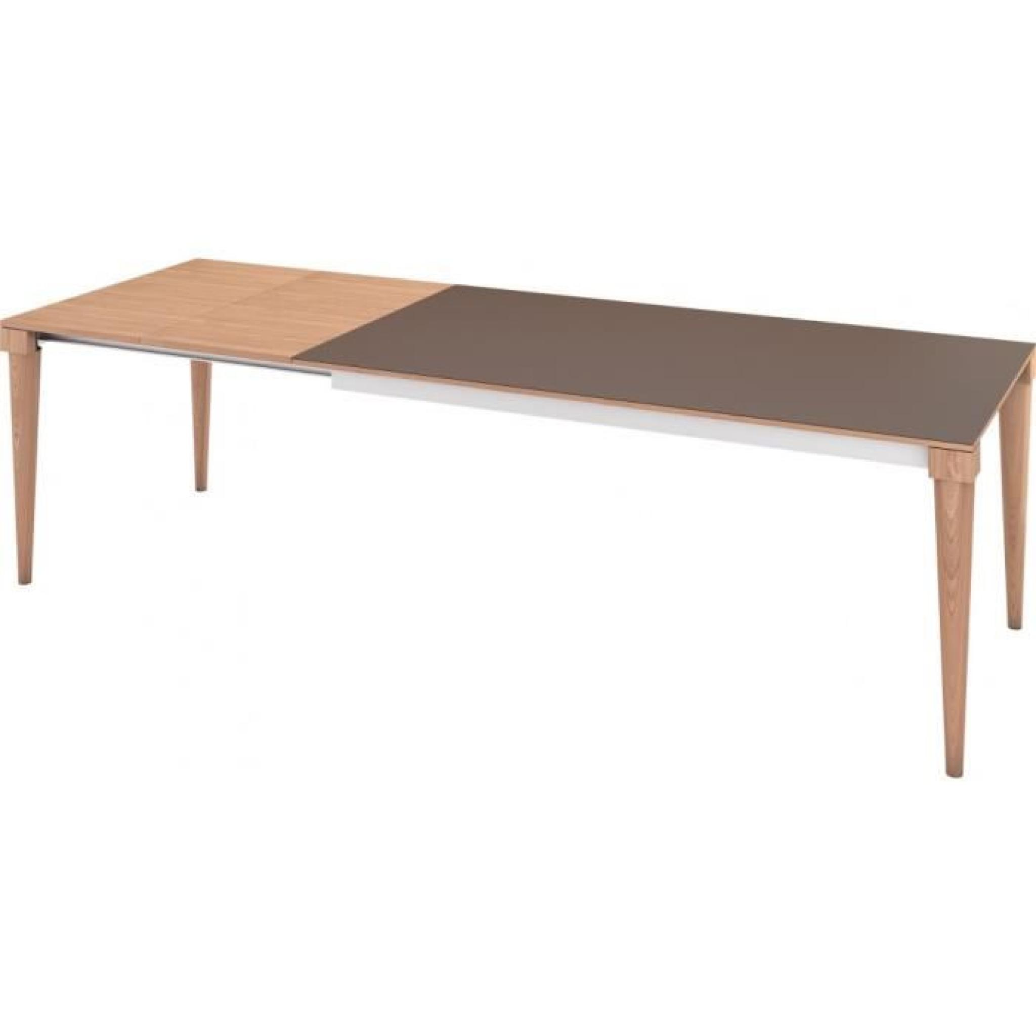 Table de repas scandinave ch ne naturel plateau c ramique for Salle a manger table ceramique