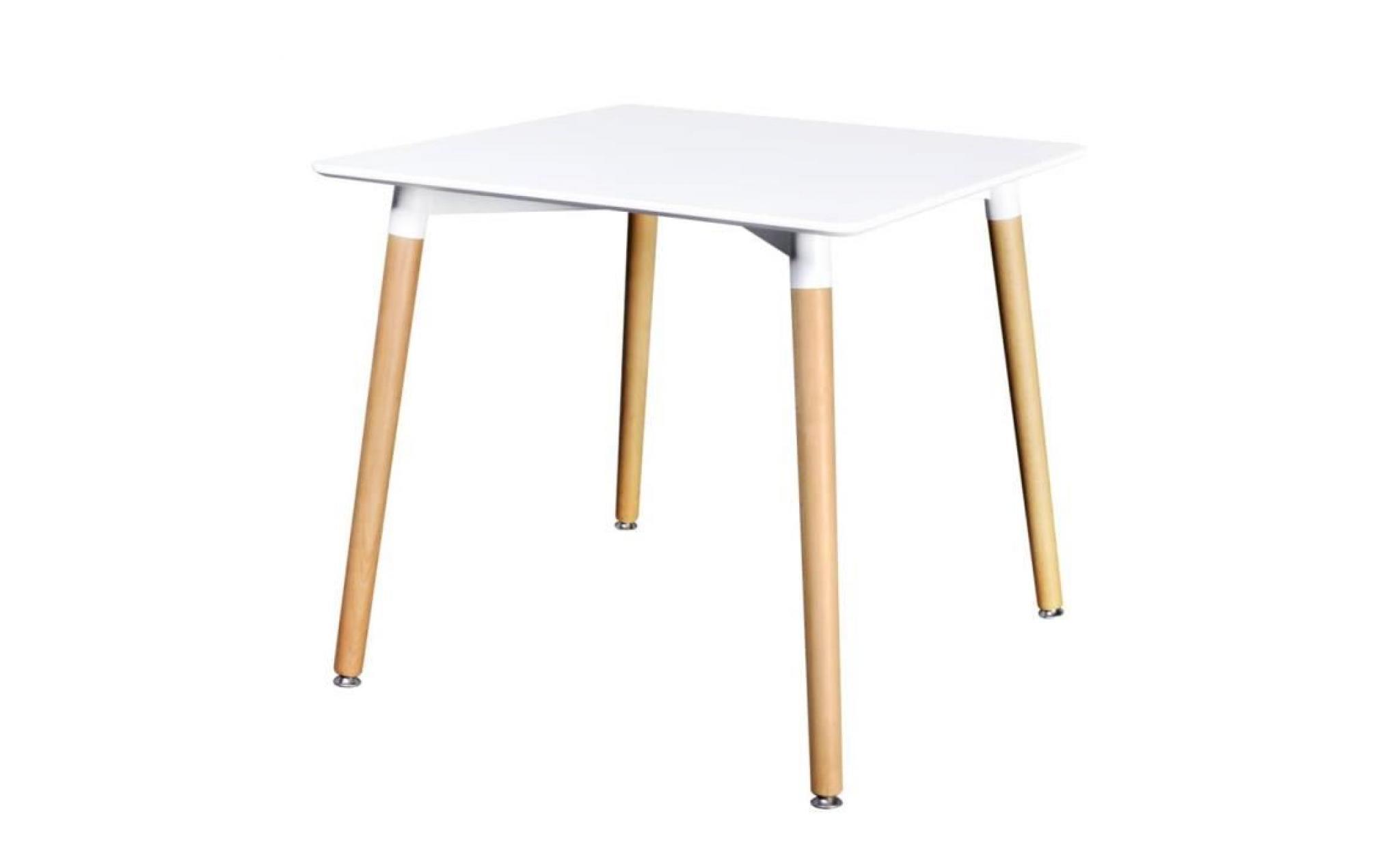 Incroyable Table De Salle à Manger Carrée Mdf Blanc Table Basse Table Console