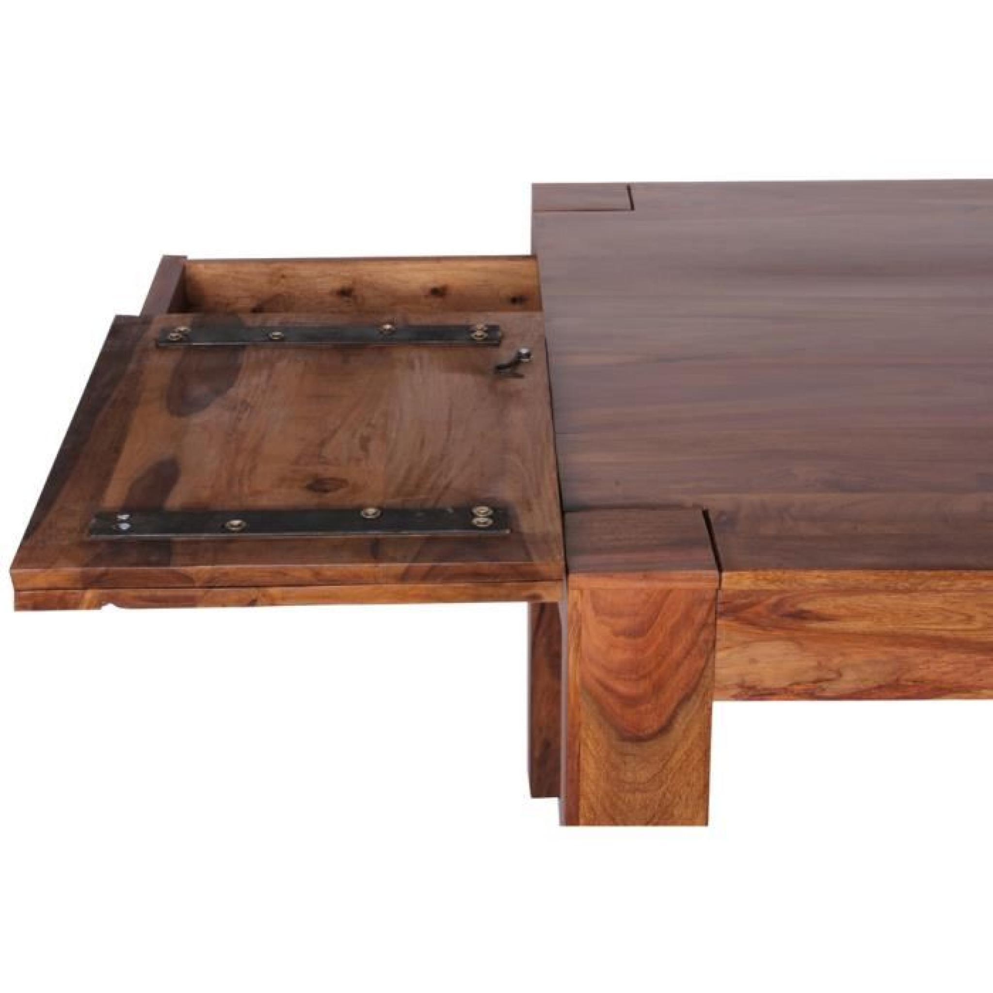 Table de salle manger en bois massif de palissandre long 160 240 x larg 100 x h 76 cm - Table salle a manger bois pas cher ...