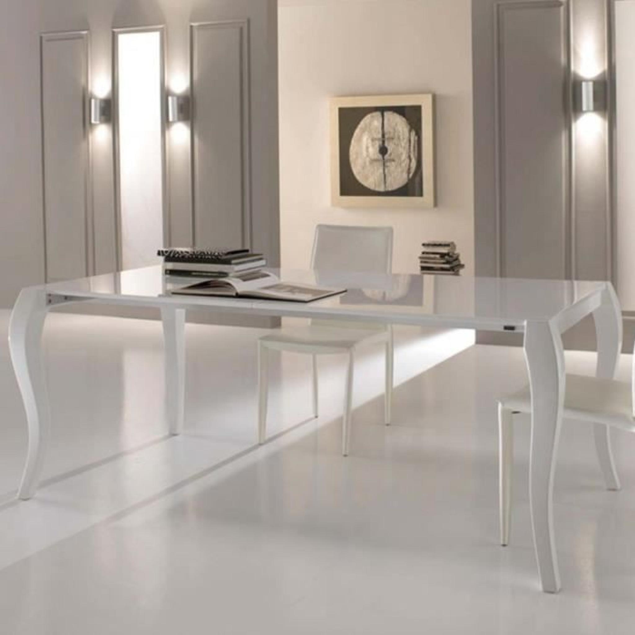 table de salle manger extensible en bois shining l170 200 230xla90xh76cm achat vente table. Black Bedroom Furniture Sets. Home Design Ideas