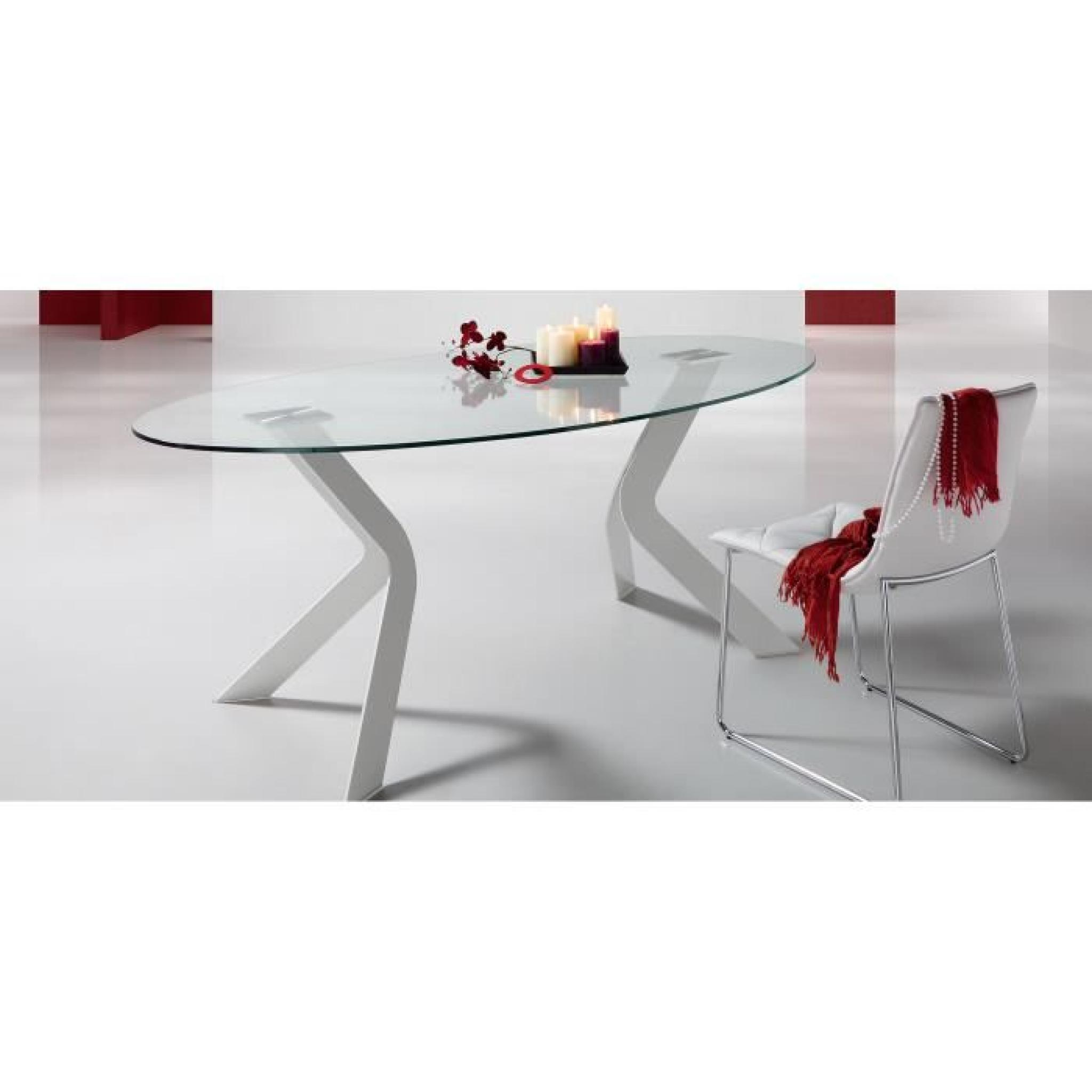 table ovale westport 200x110 cm argent achat vente table salle a manger pas cher couleur et. Black Bedroom Furniture Sets. Home Design Ideas