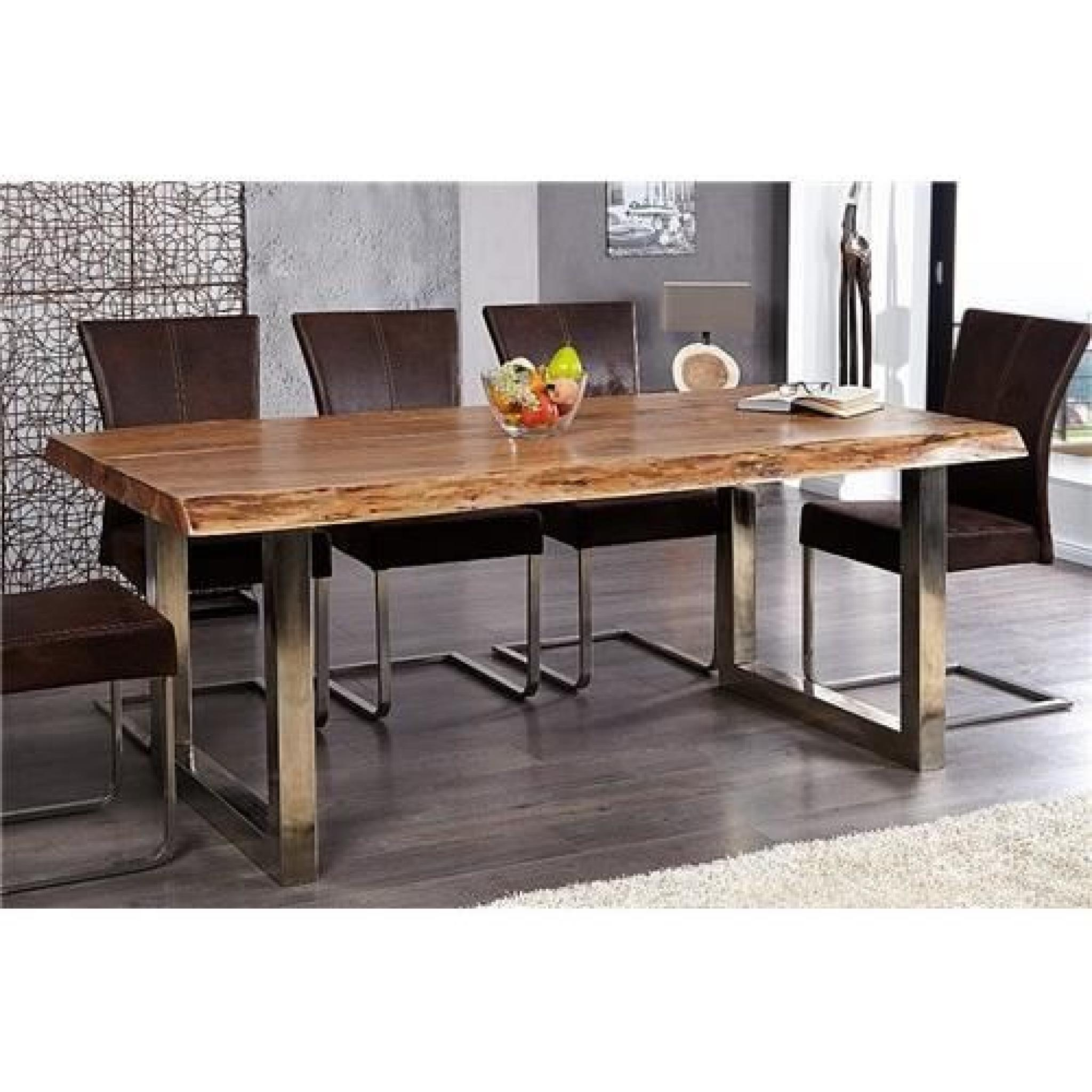 Table design akazio bois achat vente table salle a for Grande table a manger pas cher