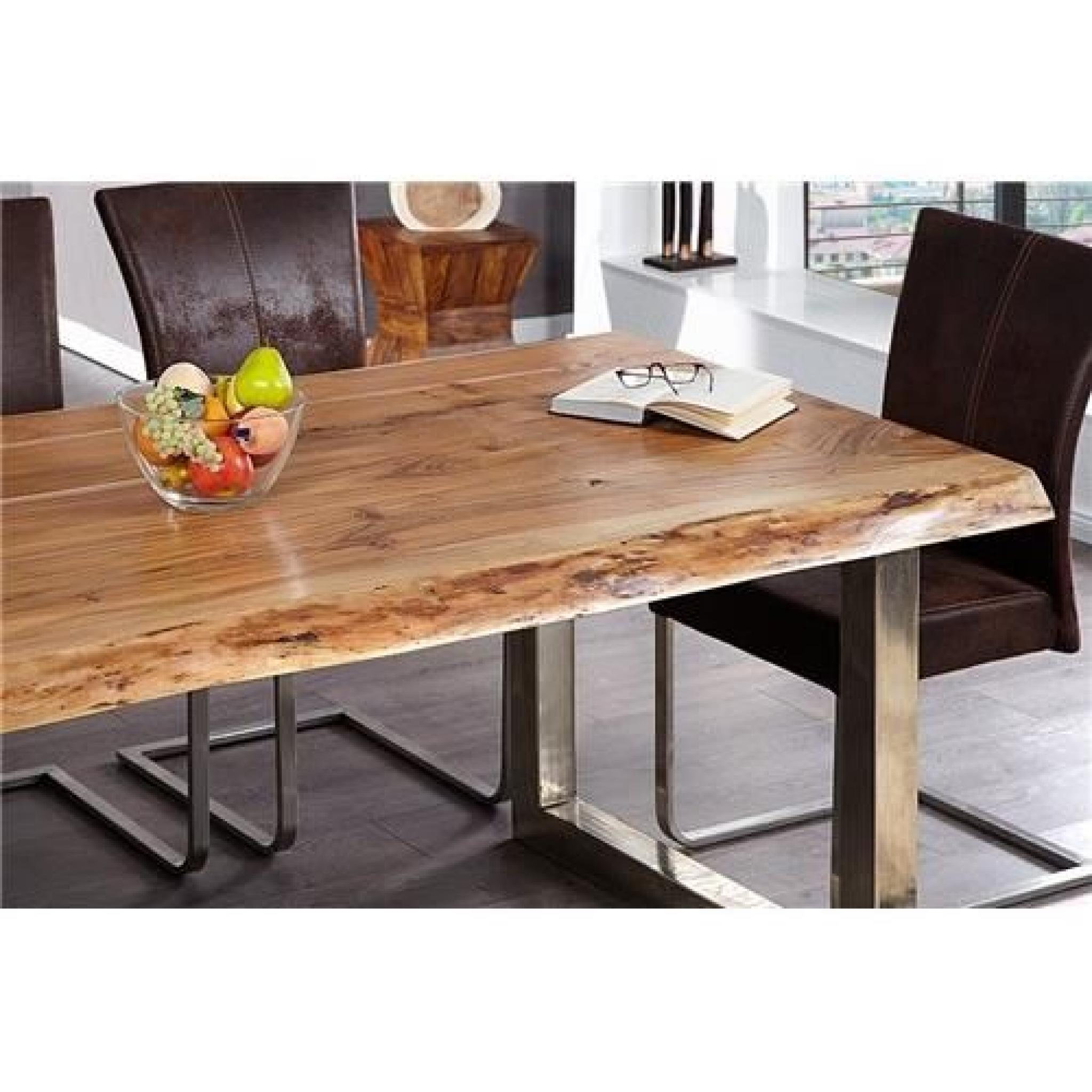 Table design akazio bois achat vente table salle a for Table tv pas cher