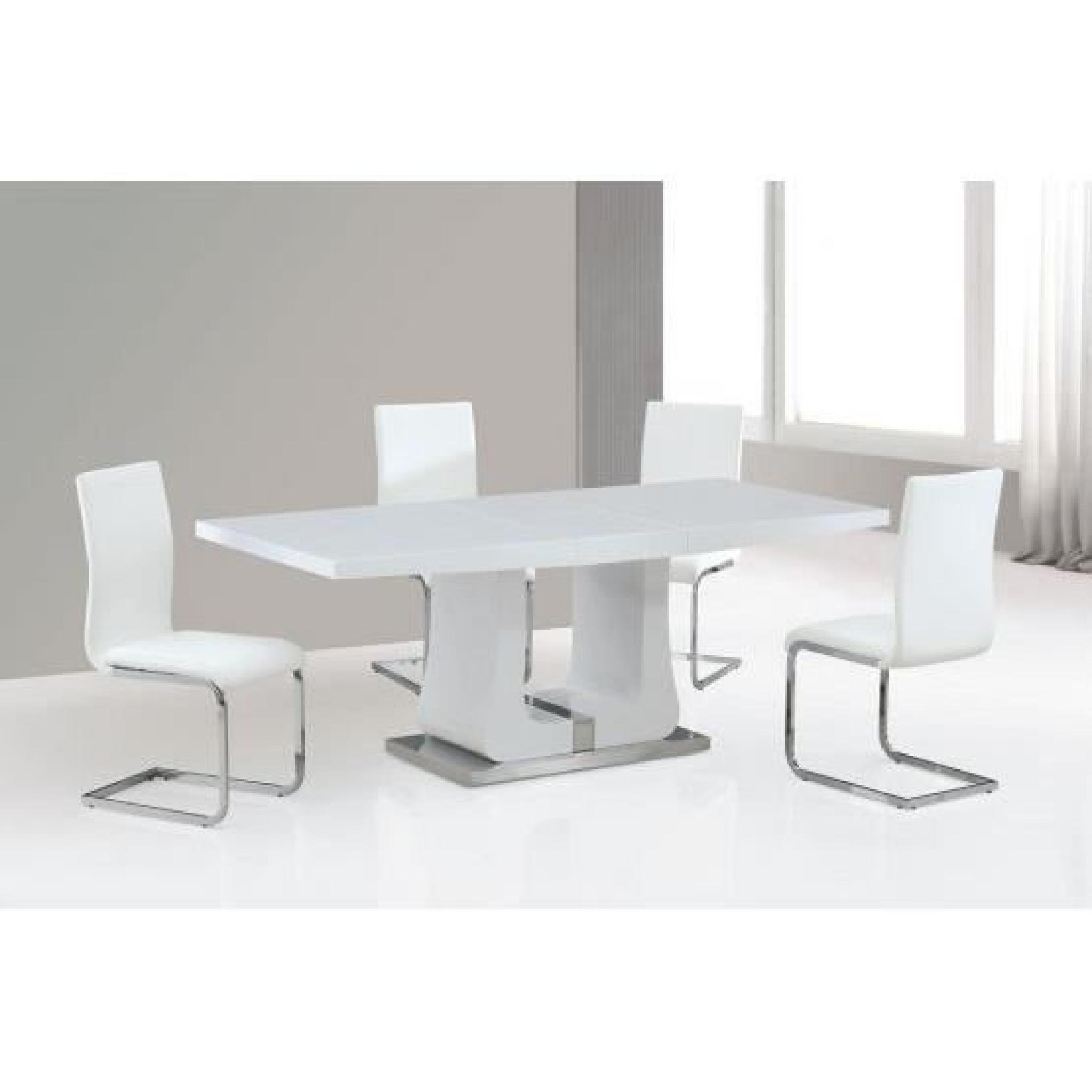 Table design Cinthia blanc - Achat/Vente table salle a manger pas ...