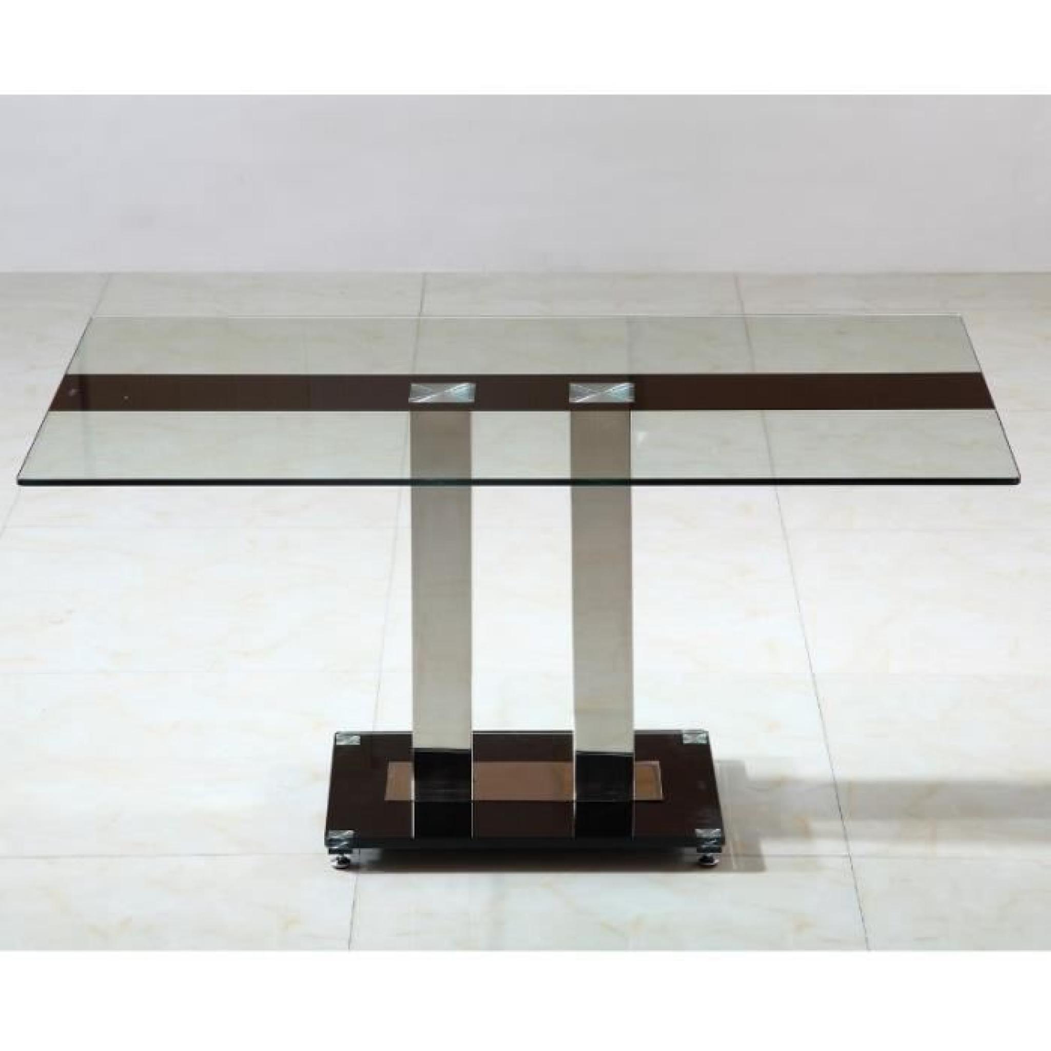 Table En Verre Pied Central Sirna