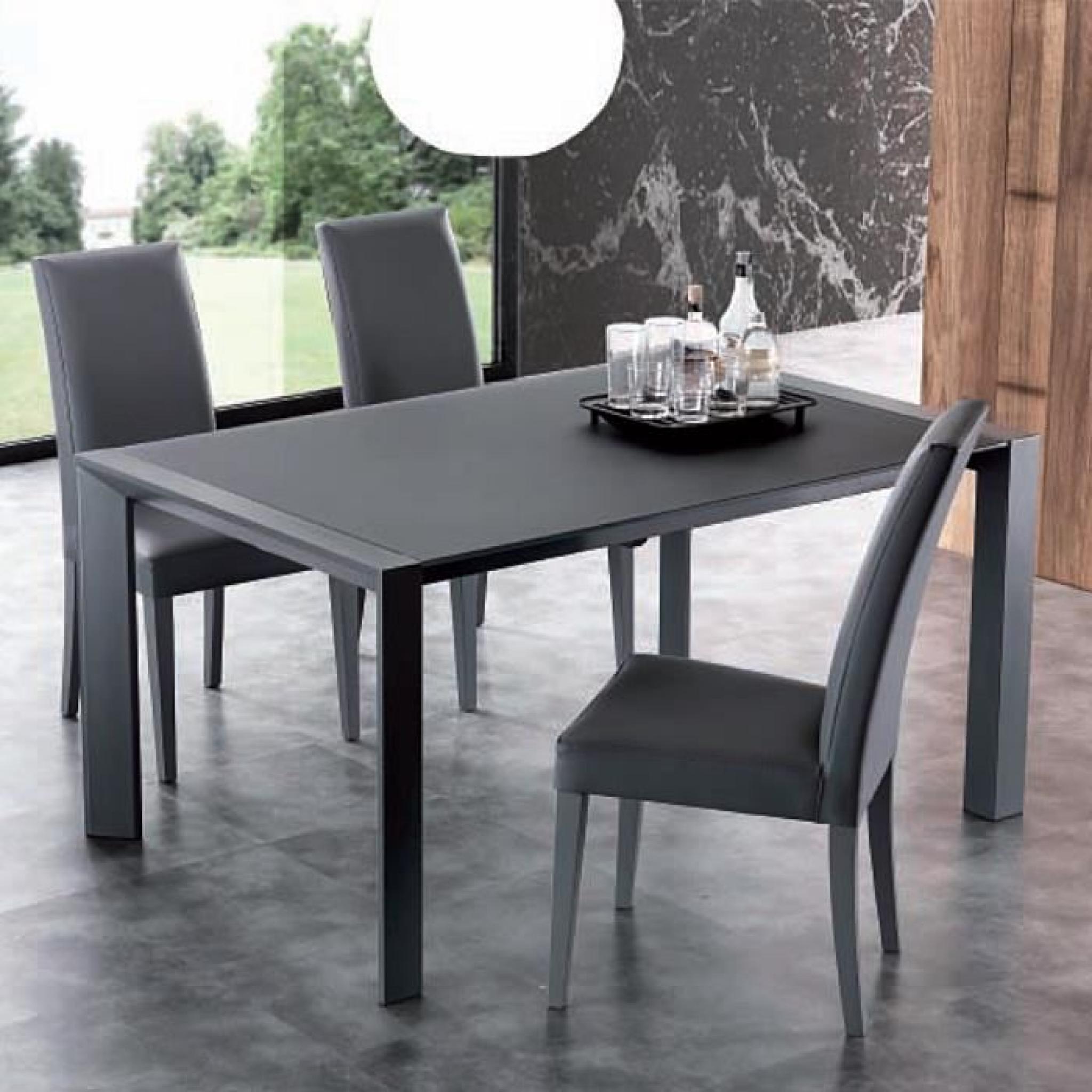 #7D5C4E Table Extensible De Salle à Manger Avec Plateau En Crystal  3589 Salle A Manger Extensible Pas Cher 2048x2048 px @ aertt.com