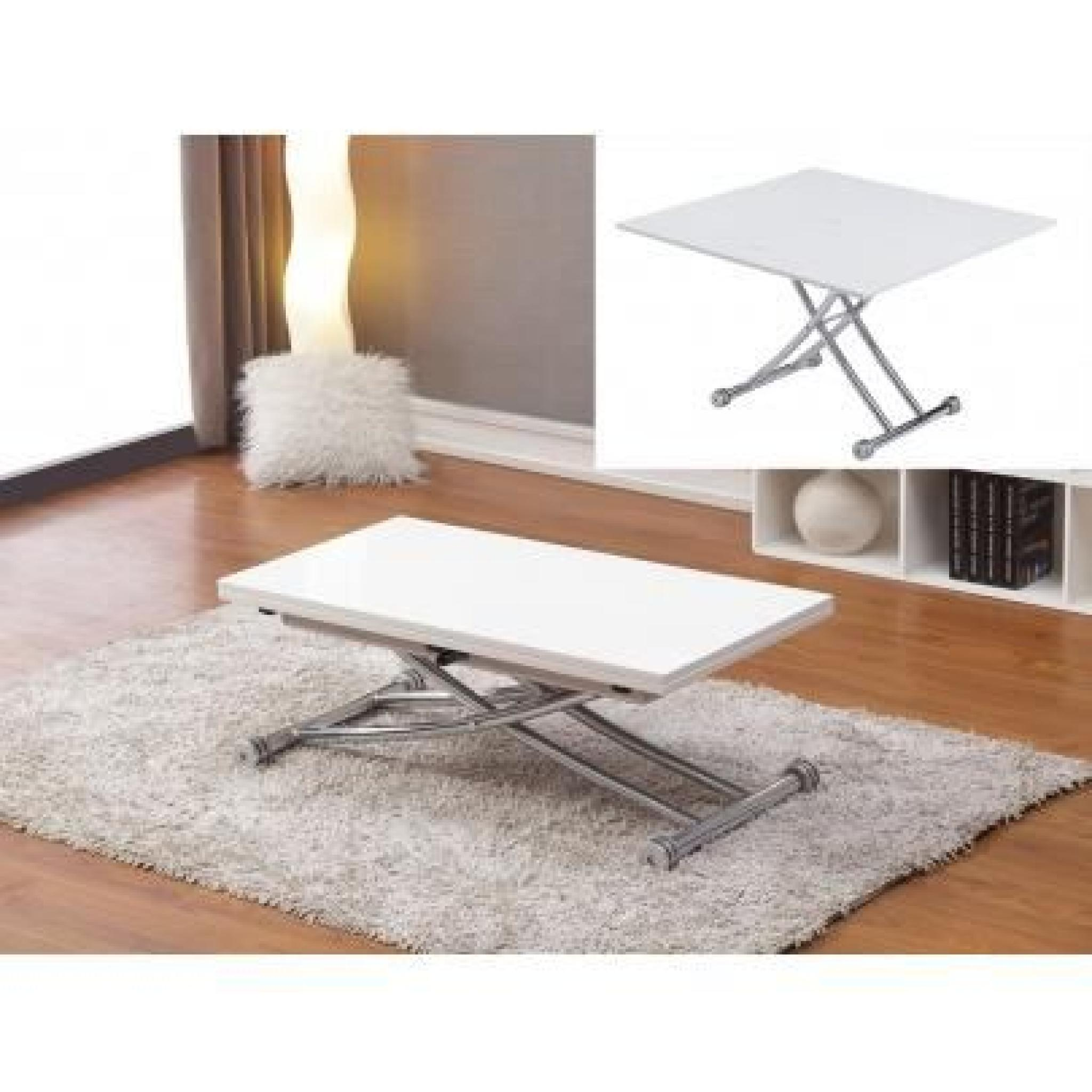 Table extensible up u down clever couverts c with table up for Table extensible petit espace