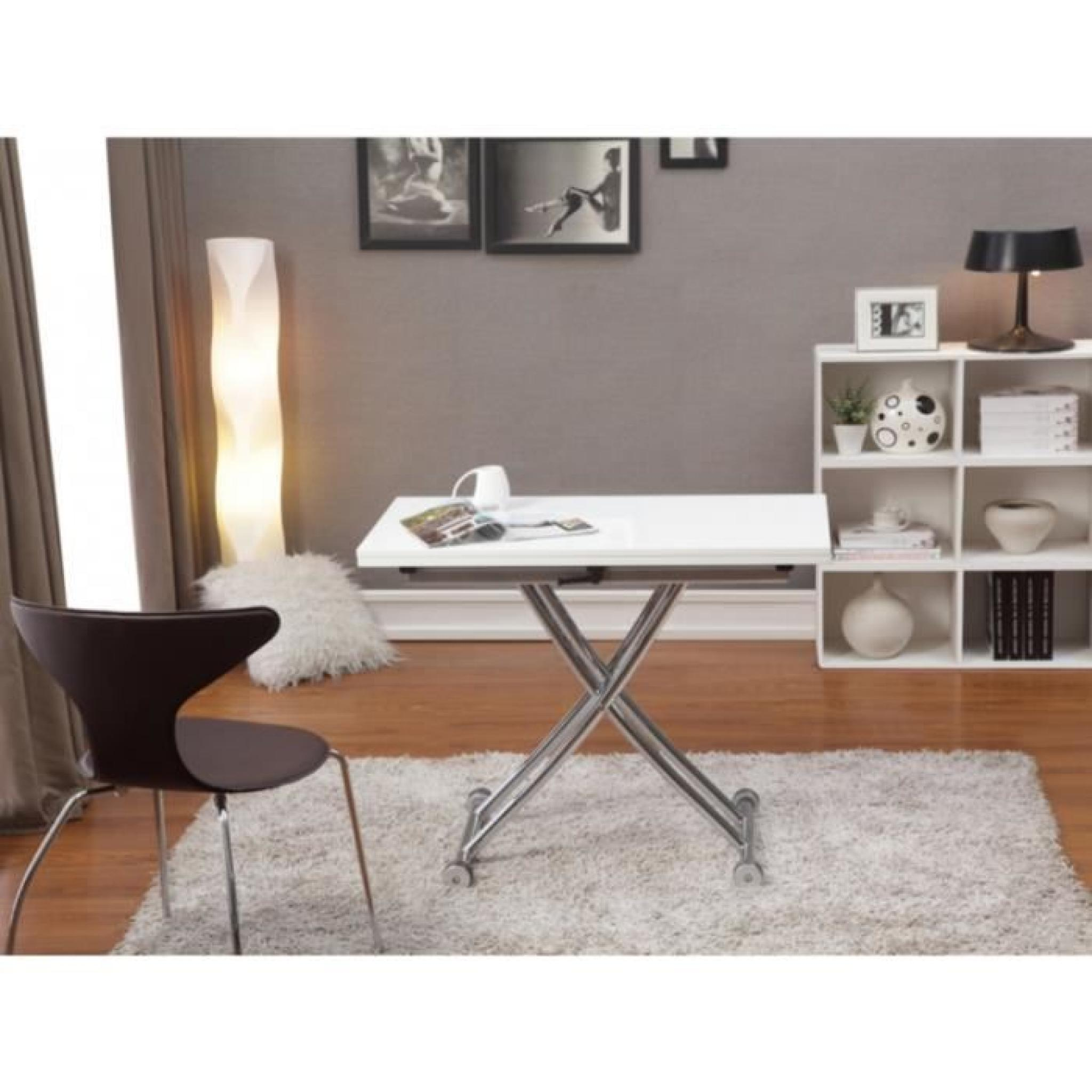 Table extensible up u down clever couverts c pas cher with Table haute extensible pas cher