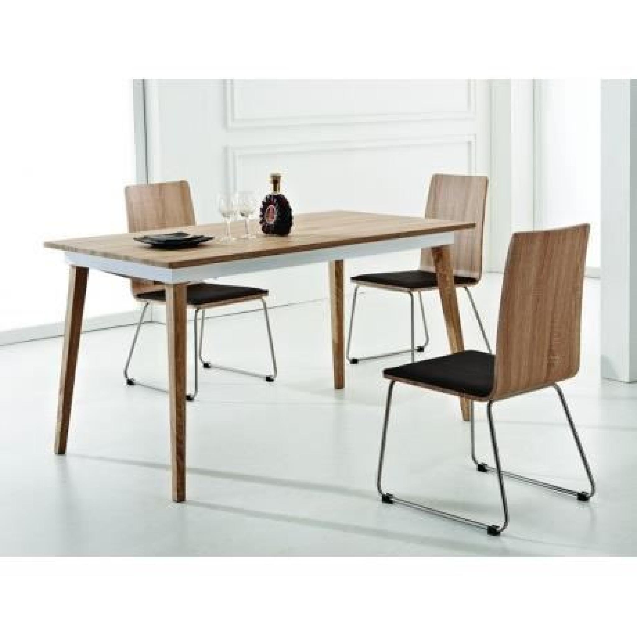 À Couverts Métal 6 Extensible Table Mdf 8 Et Woods HI9YWE2D