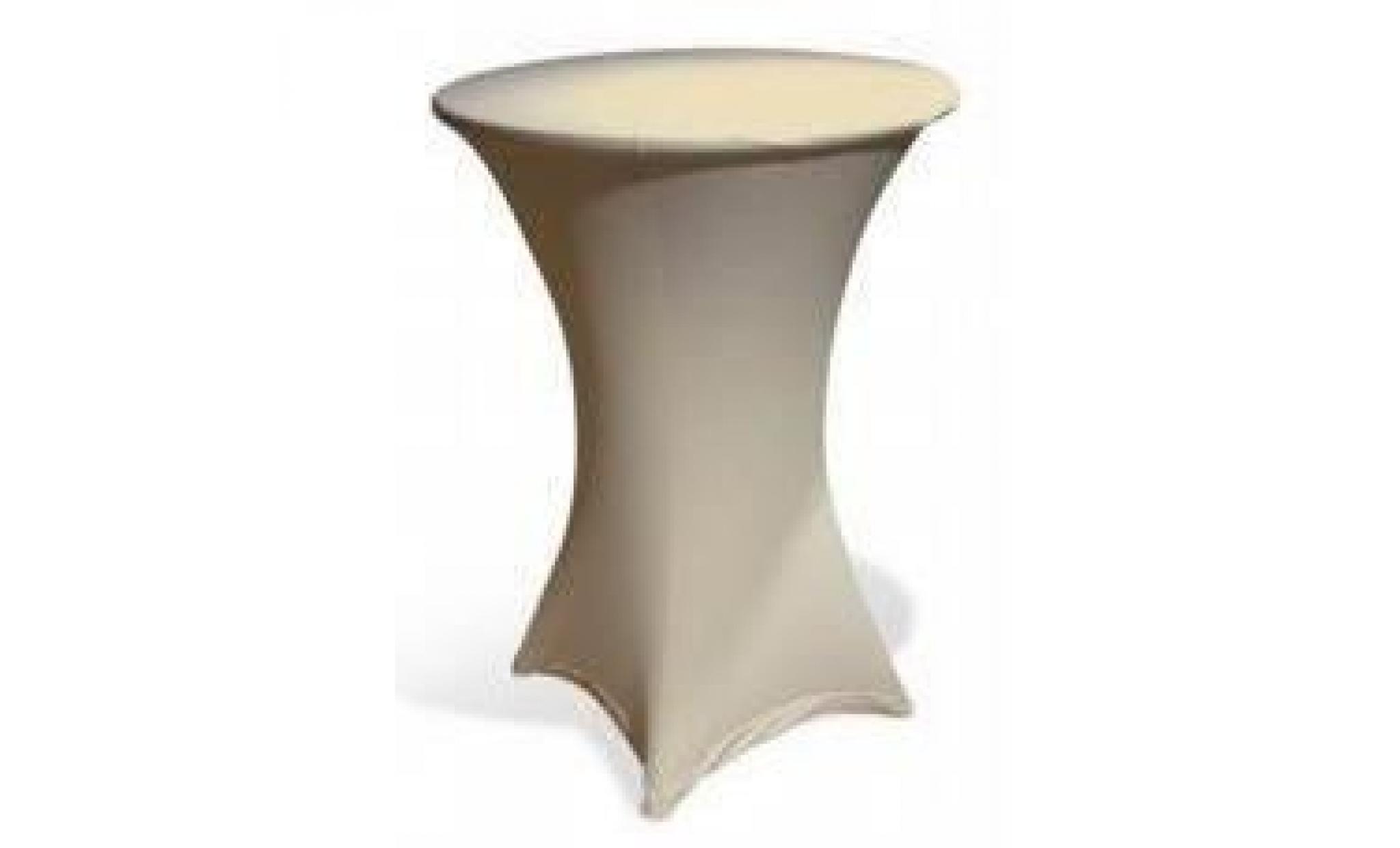 Table haute bar pliante + housse beige - Achat/Vente table salle a ...
