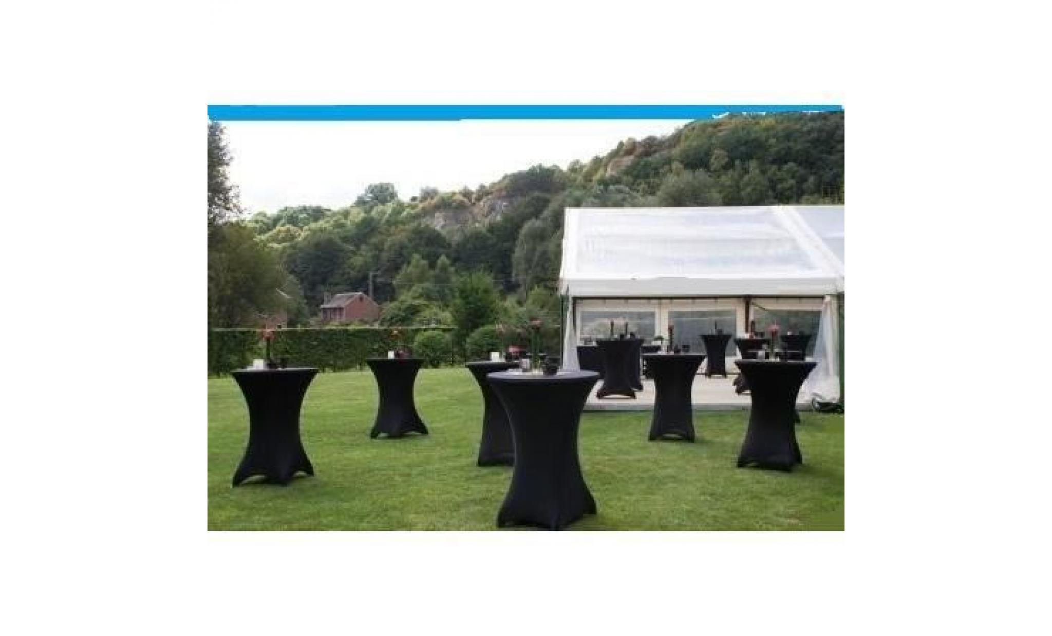 Table haute bar pliante housse noir achat vente table - Table haute pliante pas cher ...