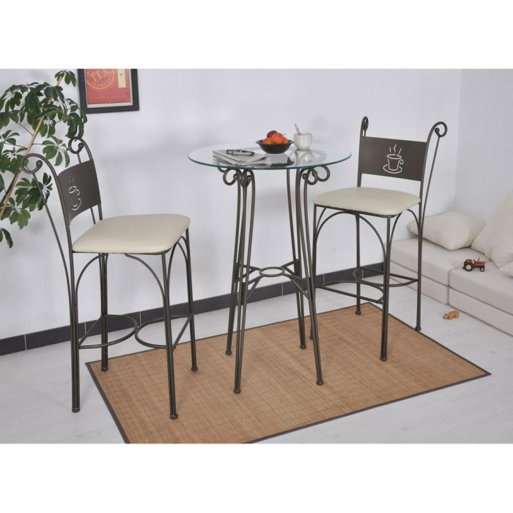 table haute ronde gringo achat vente table salle a. Black Bedroom Furniture Sets. Home Design Ideas