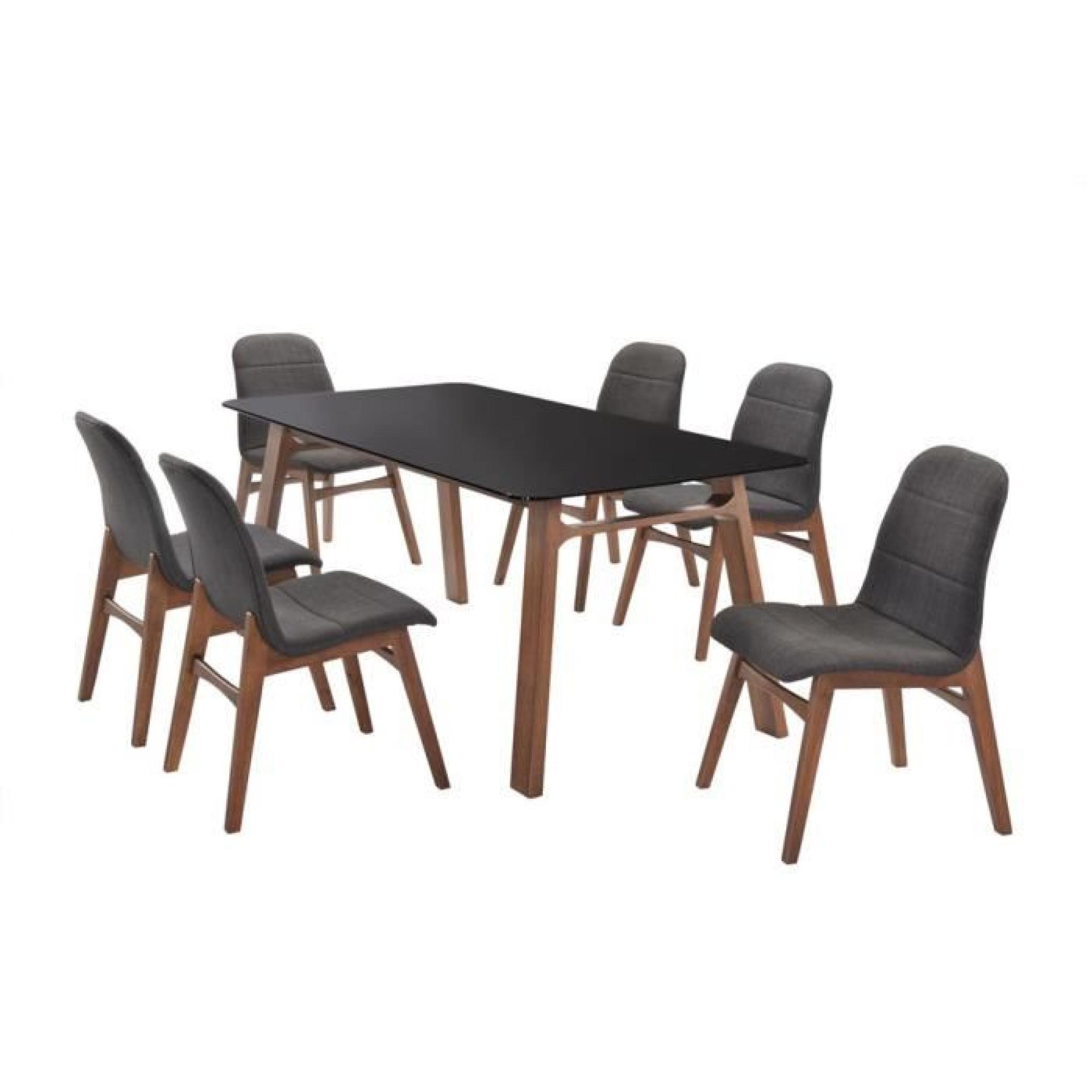 Table jenja swithome zen noir achat vente table salle a for Table salle a manger zen
