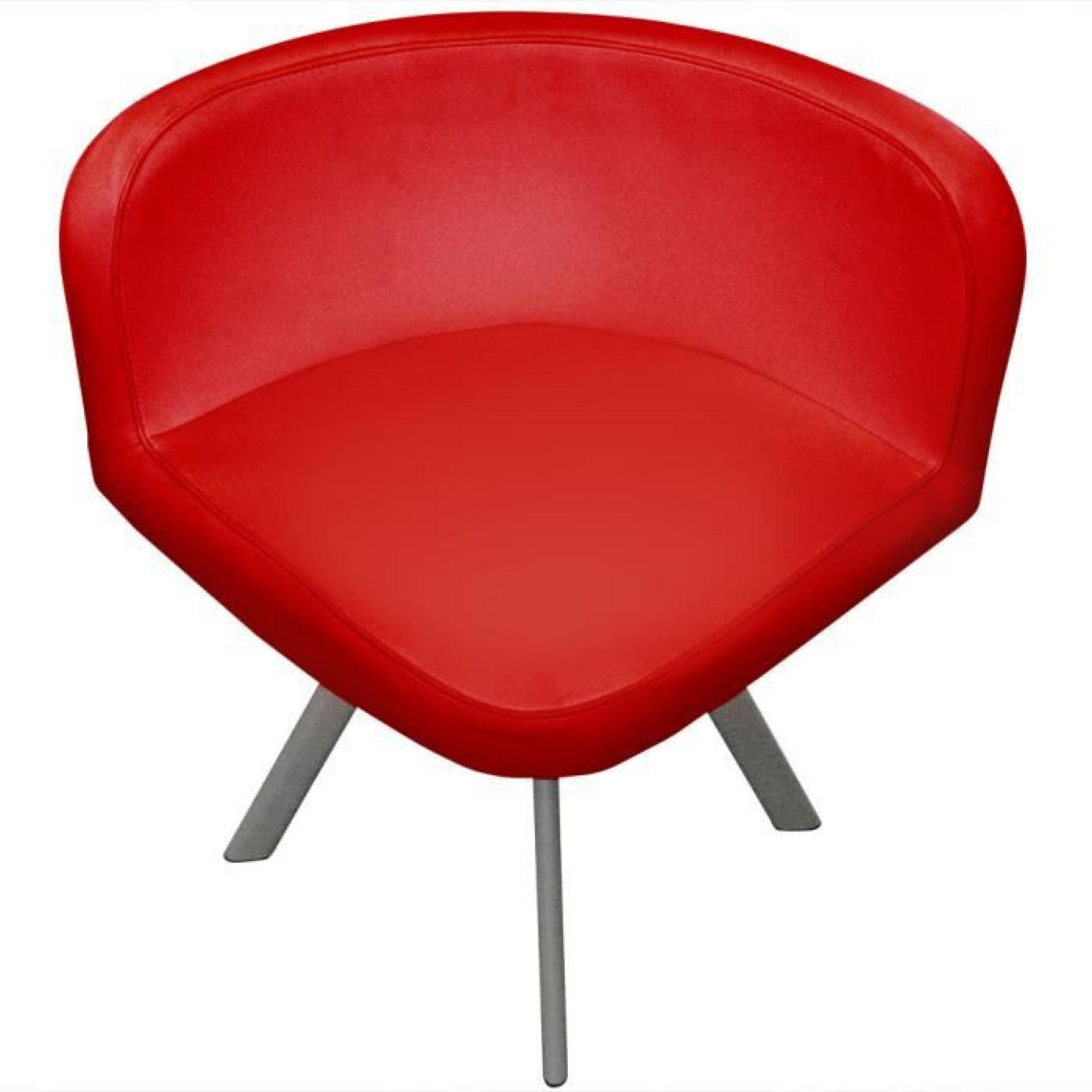 Table Et Chaises Mosaic 90 Blanc Rouge Pas Cher