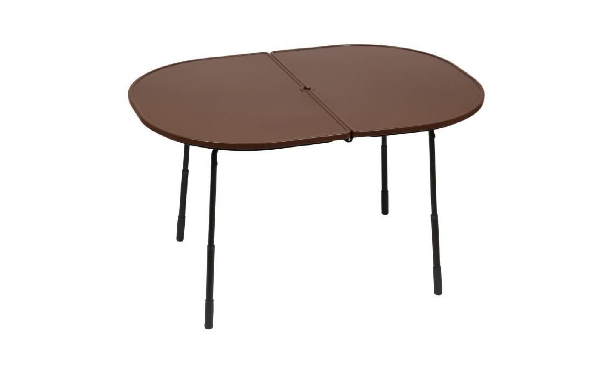 table pique nique pliante hauteur r glable acier plateau stratifi hawai chocolat achat. Black Bedroom Furniture Sets. Home Design Ideas