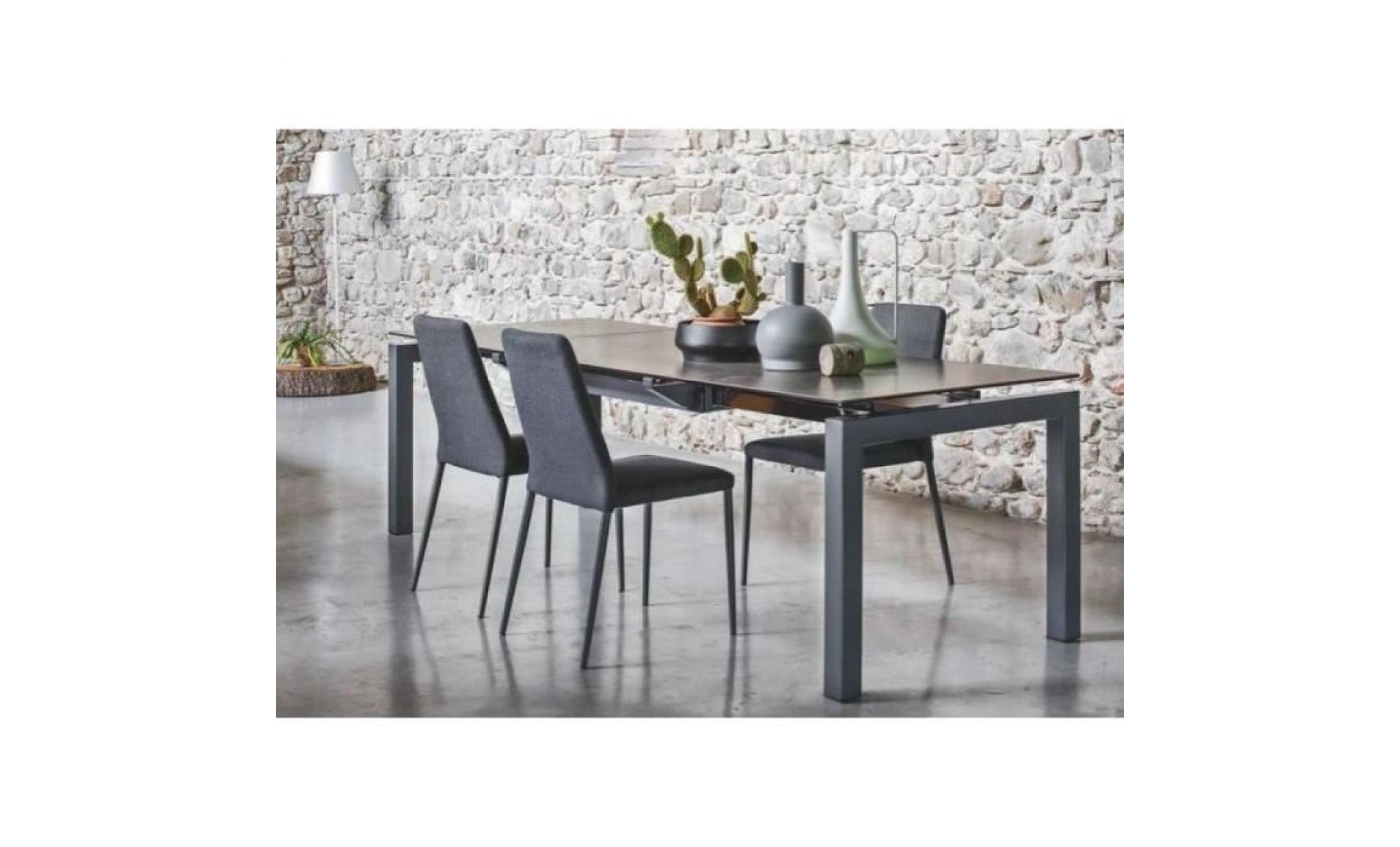 table repas extensible airport 130x90 en c ramique couleur plomb de calligaris achat vente. Black Bedroom Furniture Sets. Home Design Ideas