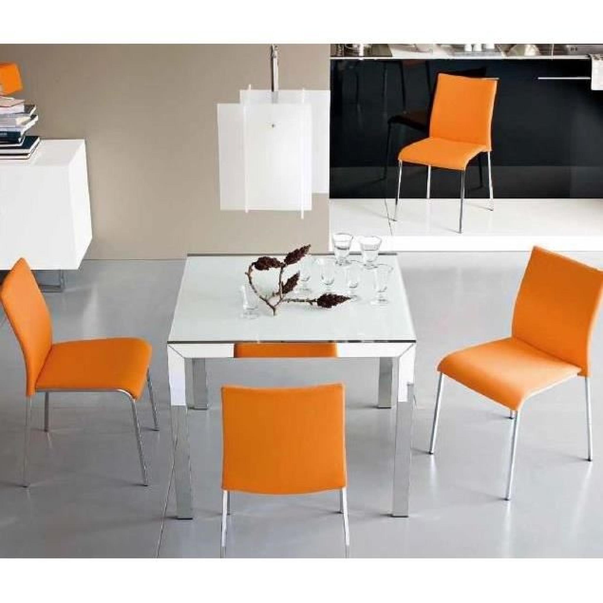 Table Key Extensible Repas Blanc 90x89 En Verre 0m8wvnON