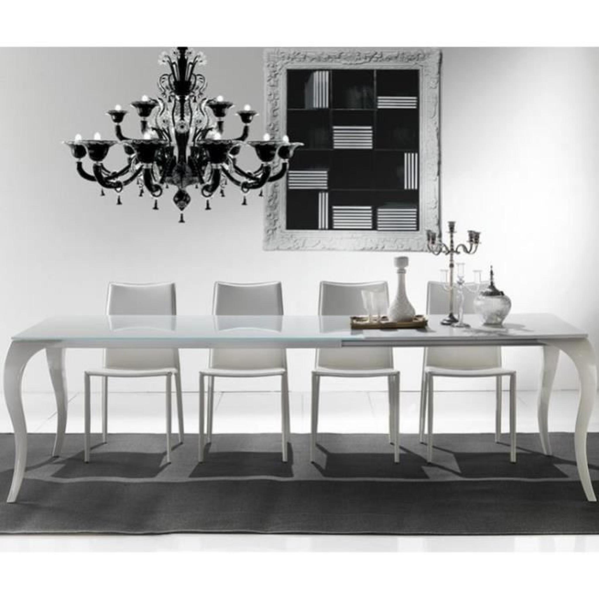 table repas extensible paris en verre et plexiglas achat vente table salle a manger pas cher. Black Bedroom Furniture Sets. Home Design Ideas