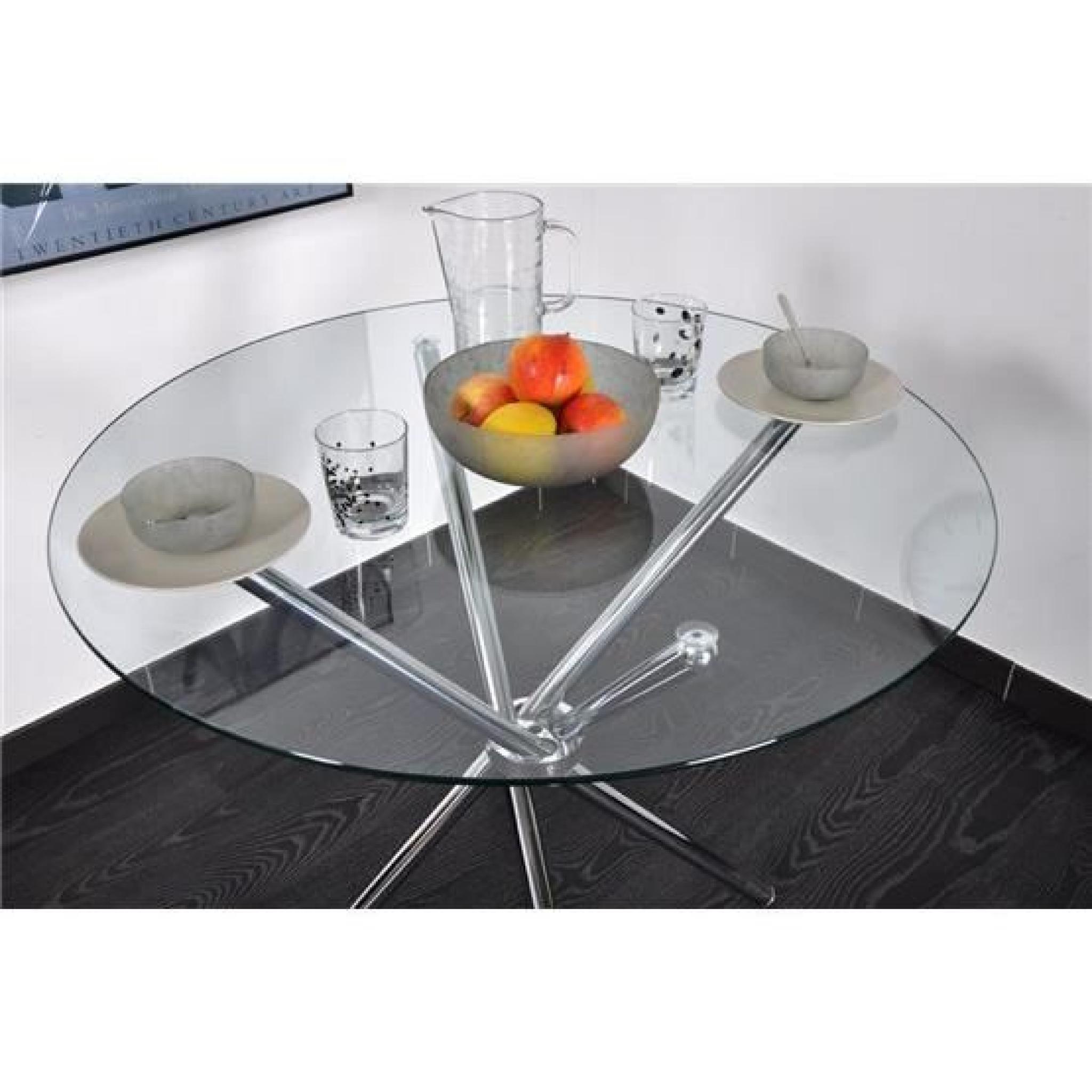 Table Ronde Norga Chrome Et Transparent Achatvente Table Salle A
