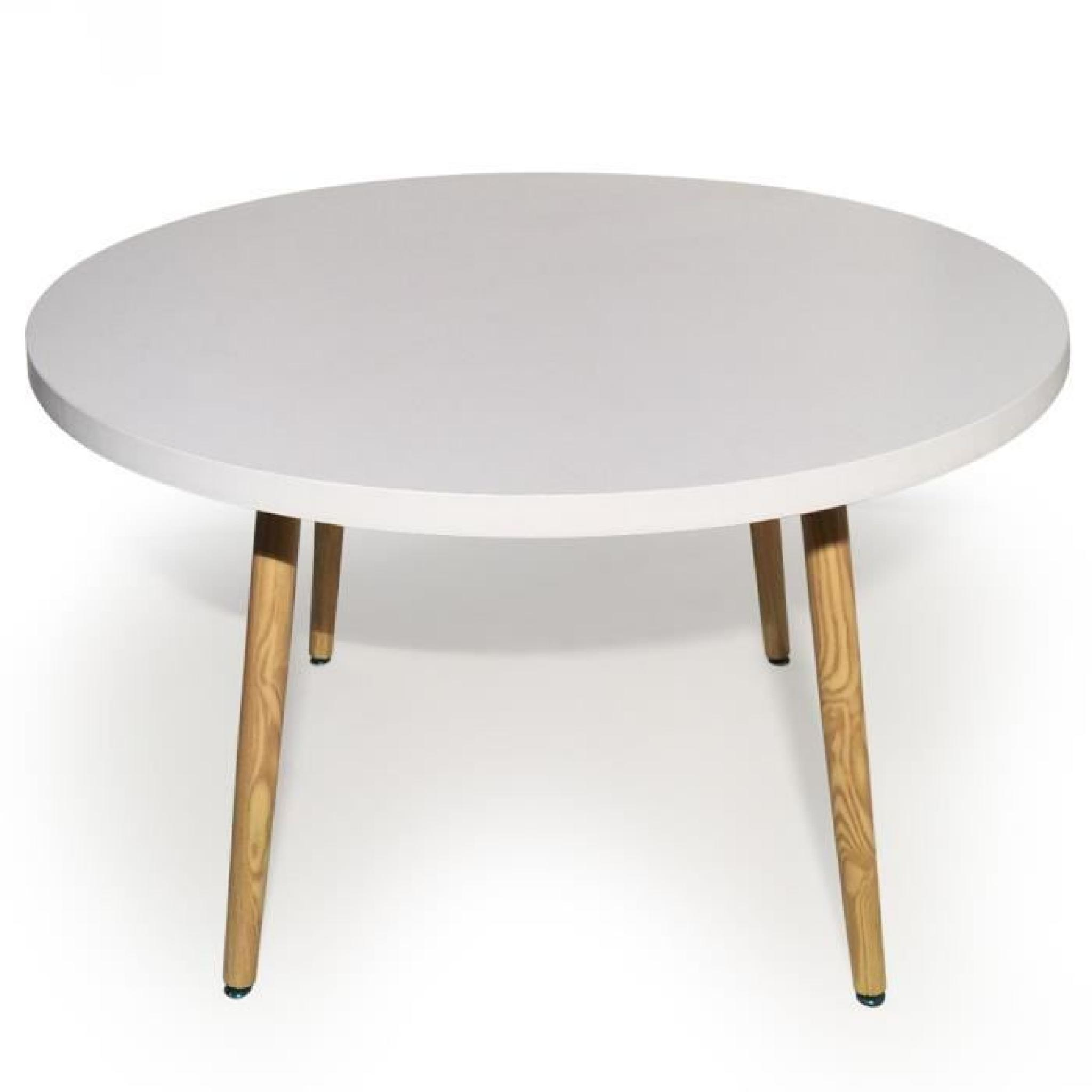 Table ronde scandinave nora blanc achat vente table for Table ronde blanc