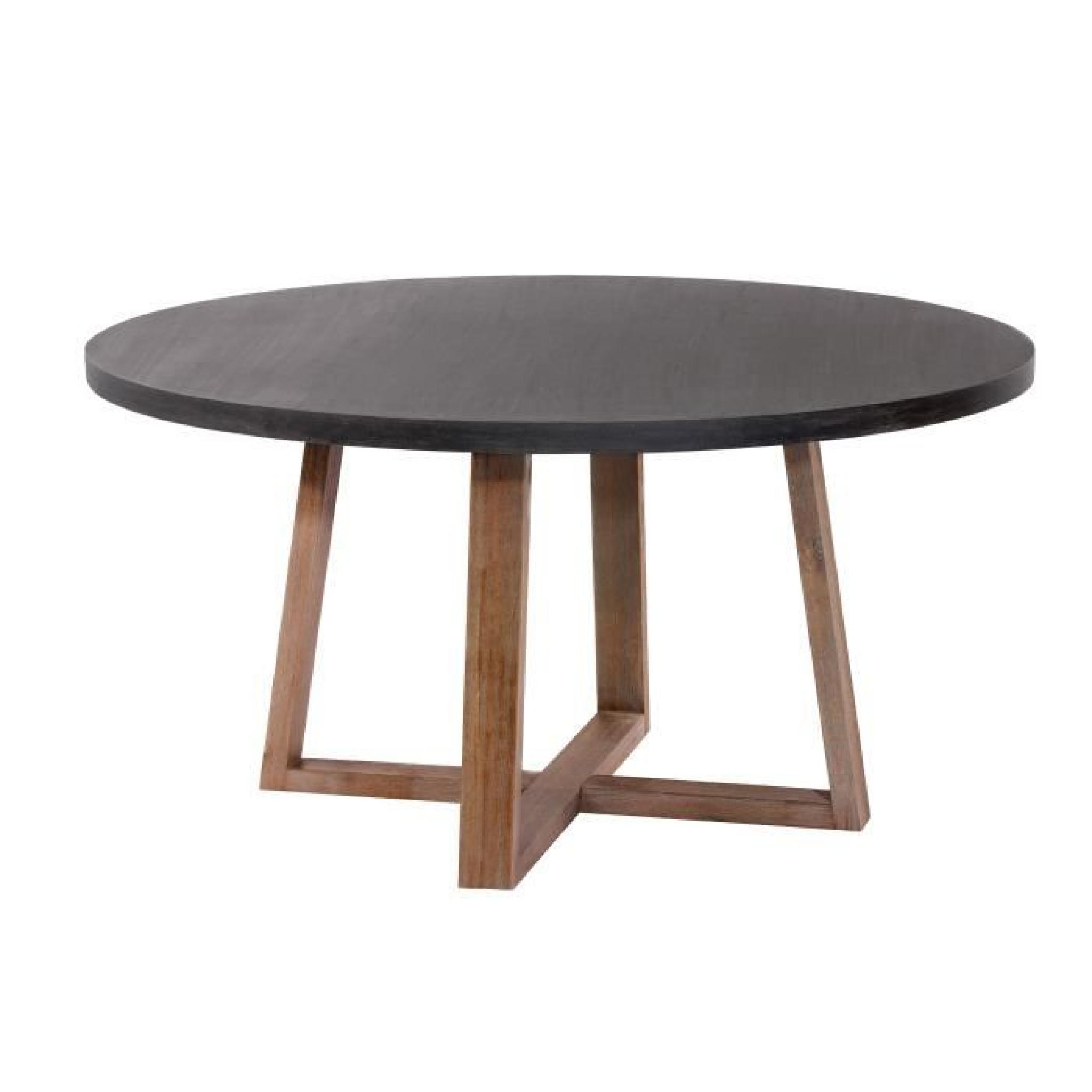 Table ronde tambora 140 cm achat vente table salle a for Table de salle a manger ronde