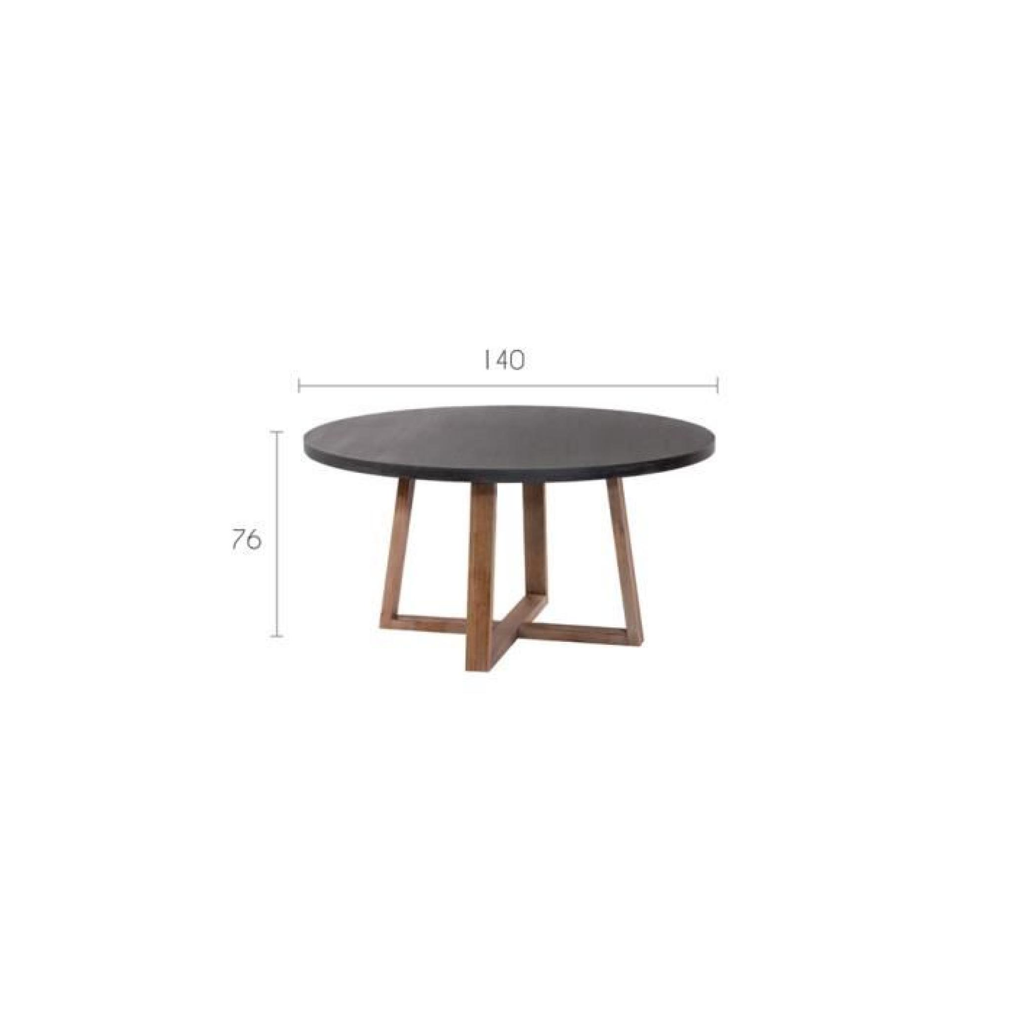 table ronde tambora 140 cm achat vente table salle a. Black Bedroom Furniture Sets. Home Design Ideas