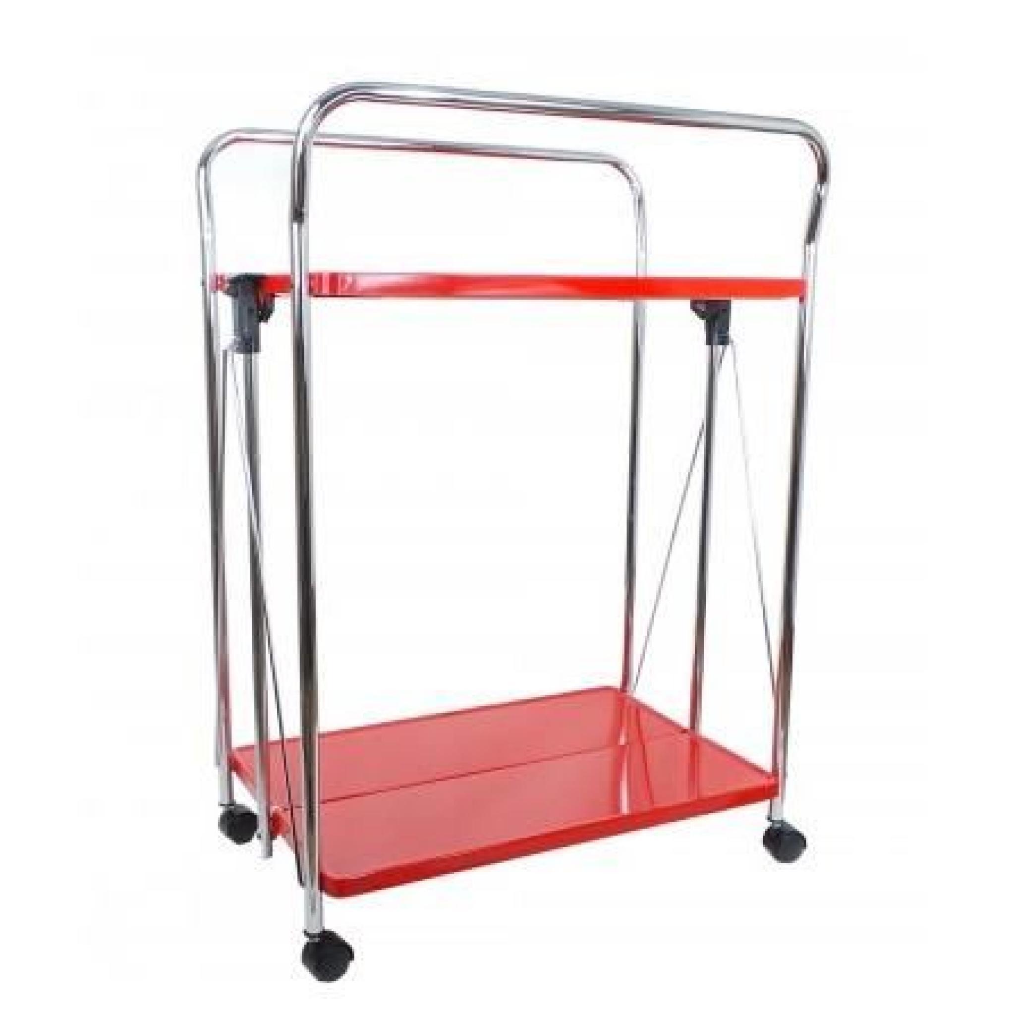 table roulante rouge pliable 2 tages achat vente table salle a manger pas cher couleur et. Black Bedroom Furniture Sets. Home Design Ideas