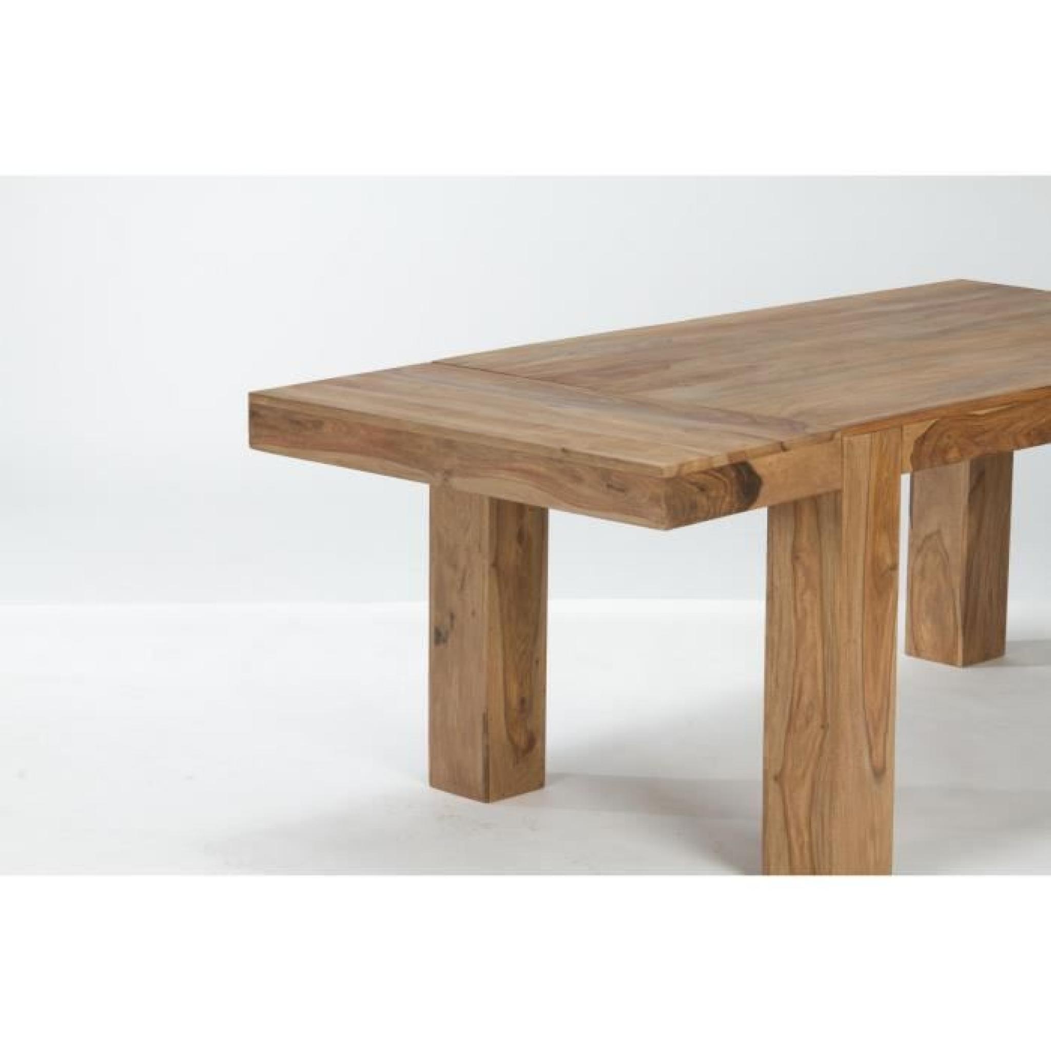 table stark 146x90 avec rallonges en palissandre teck massivum achat vente table salle a. Black Bedroom Furniture Sets. Home Design Ideas