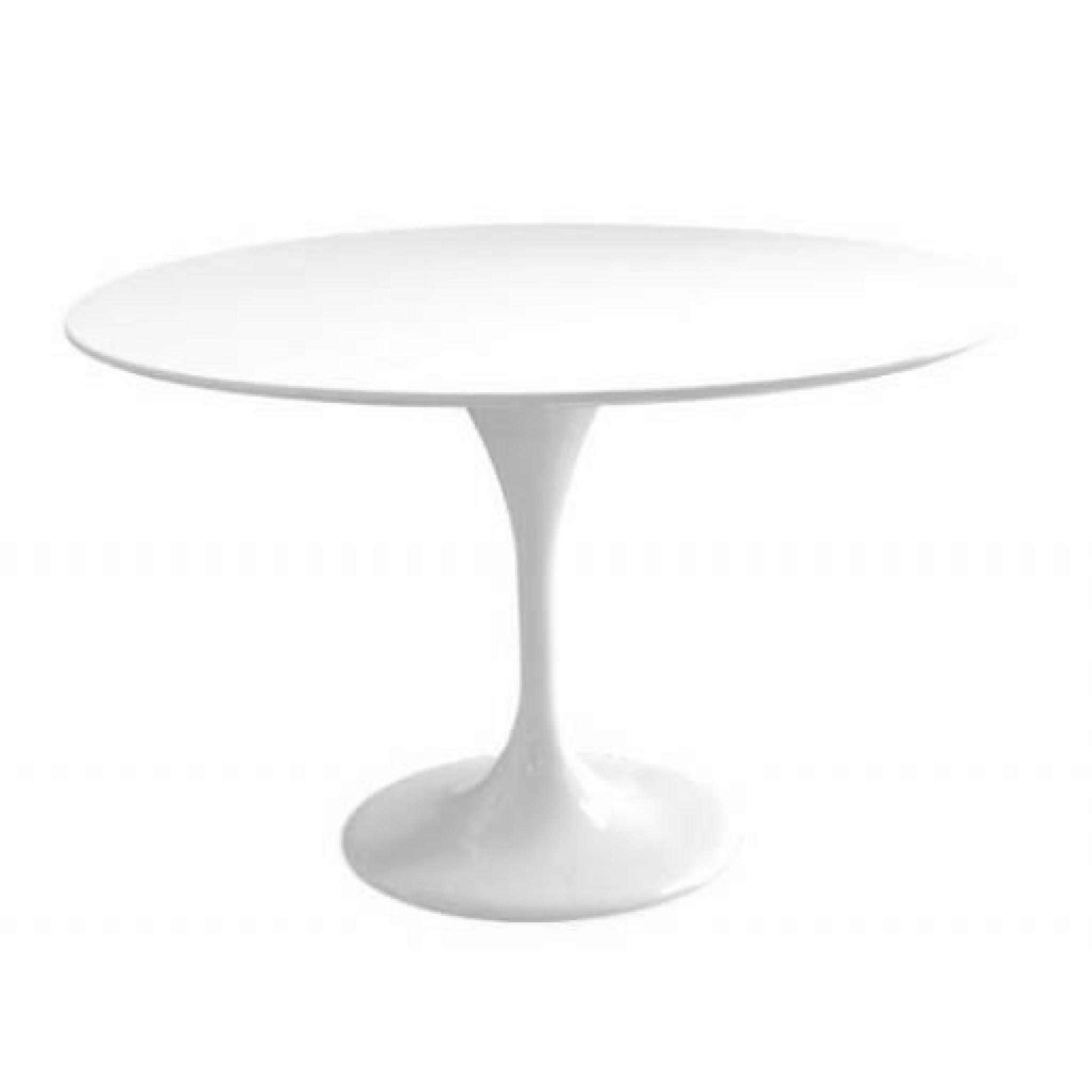 table tulipe 120 cm et 4 chaises fantome blanches achat vente table salle a manger pas cher. Black Bedroom Furniture Sets. Home Design Ideas