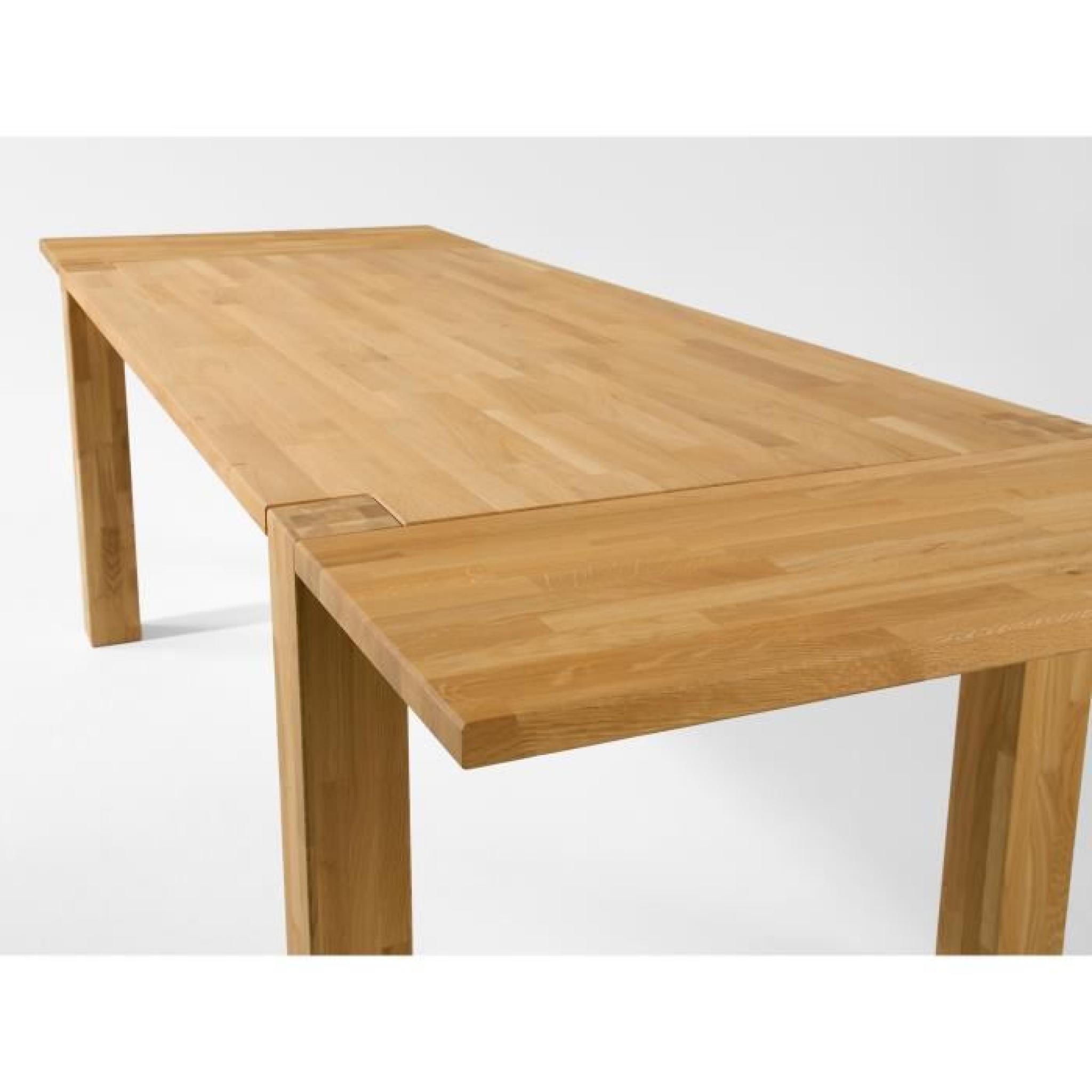 Table wildeiche ii 140x90 avec rallonges en ch ne huil Table moderne avec rallonge