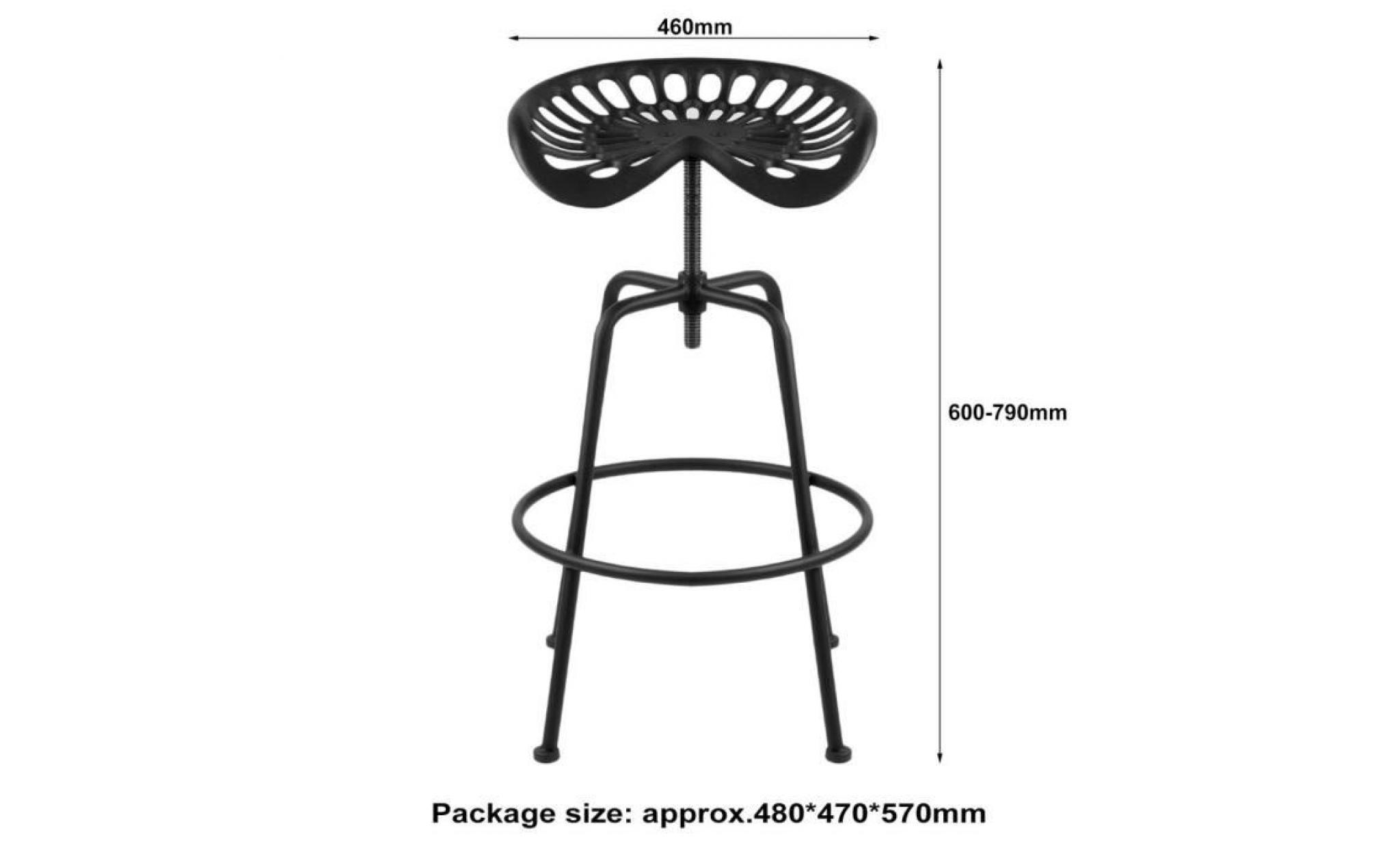 464660 siège tracteur 1pc chaise hauteur bar 79cm réglable de de de tabouret industriel JclT1FK3