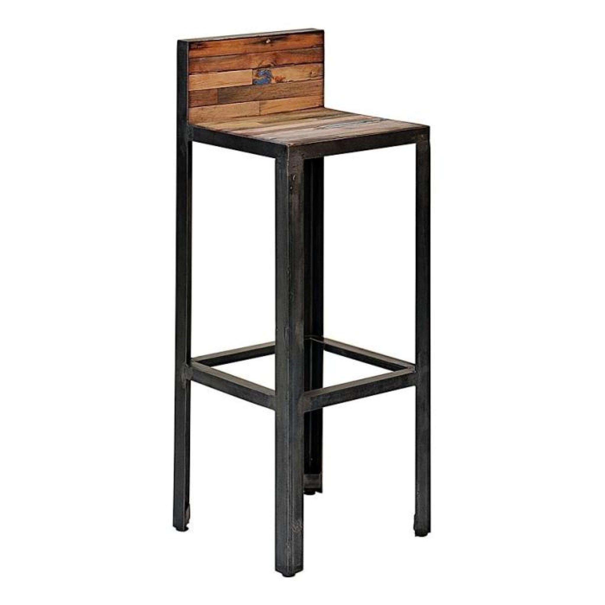 tabouret de bar avec dossier besi inwood achat vente tabouret de bar pas cher couleur et. Black Bedroom Furniture Sets. Home Design Ideas
