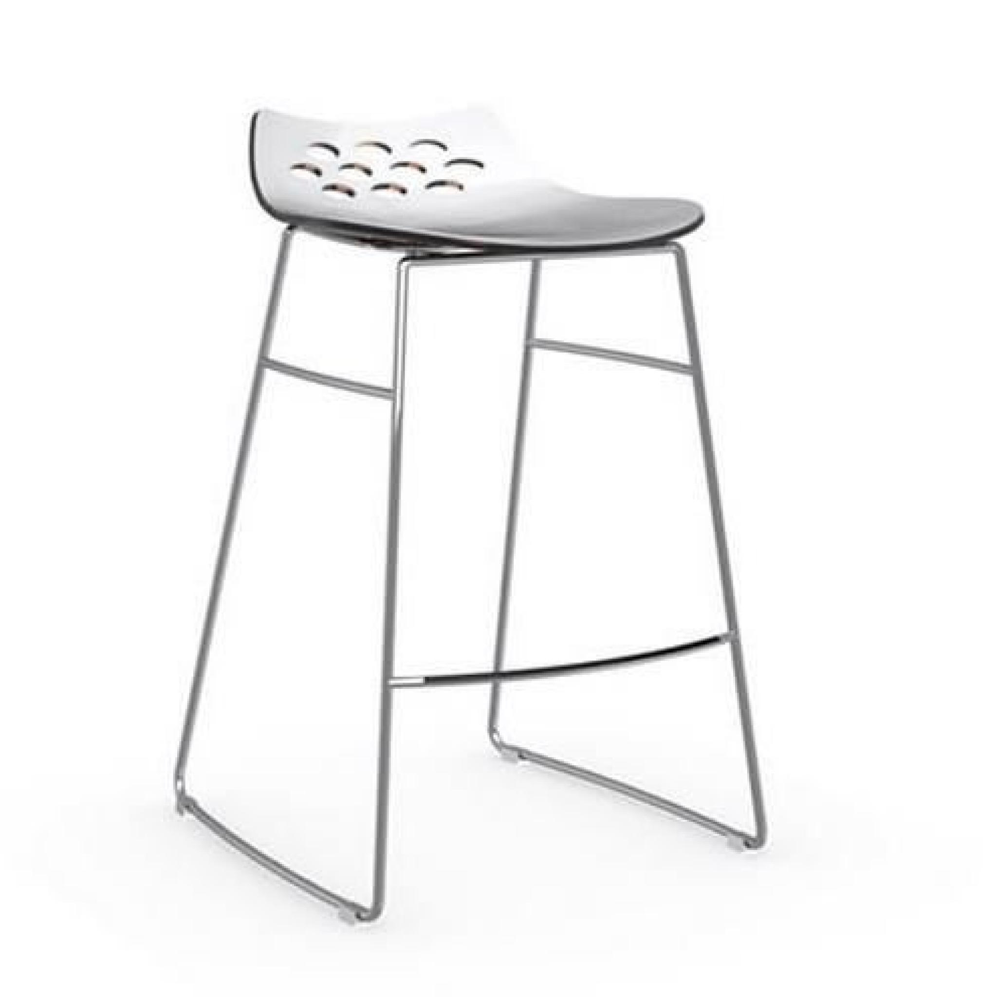 Tabouret de bar design jam de calligaris orange et blanc - Tabouret de bar couleur ...