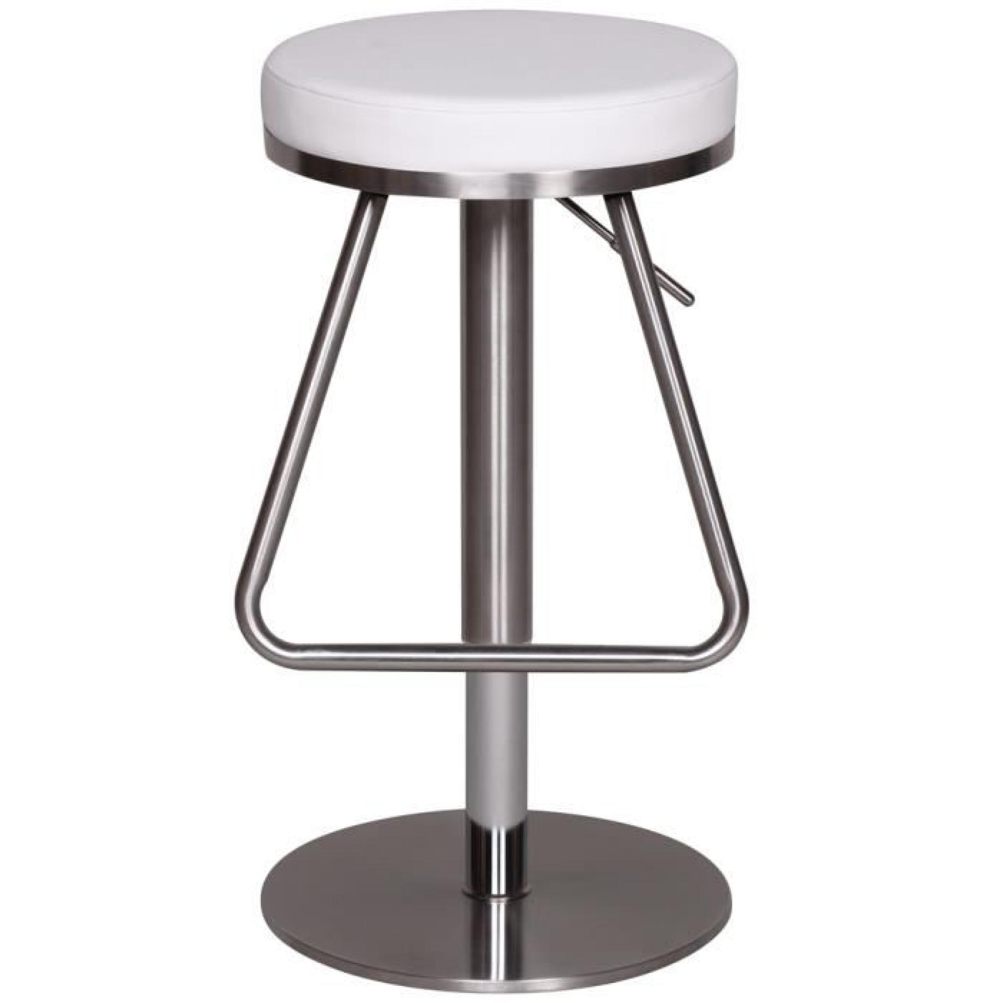 tabouret de bar en acier inoxydable bross couleur noire h 76 cm achat vente tabouret de bar. Black Bedroom Furniture Sets. Home Design Ideas