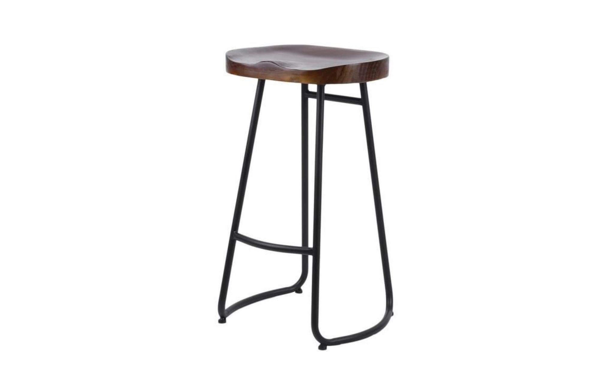 tabouret de bar industriel réglable en bois 72cm  achat