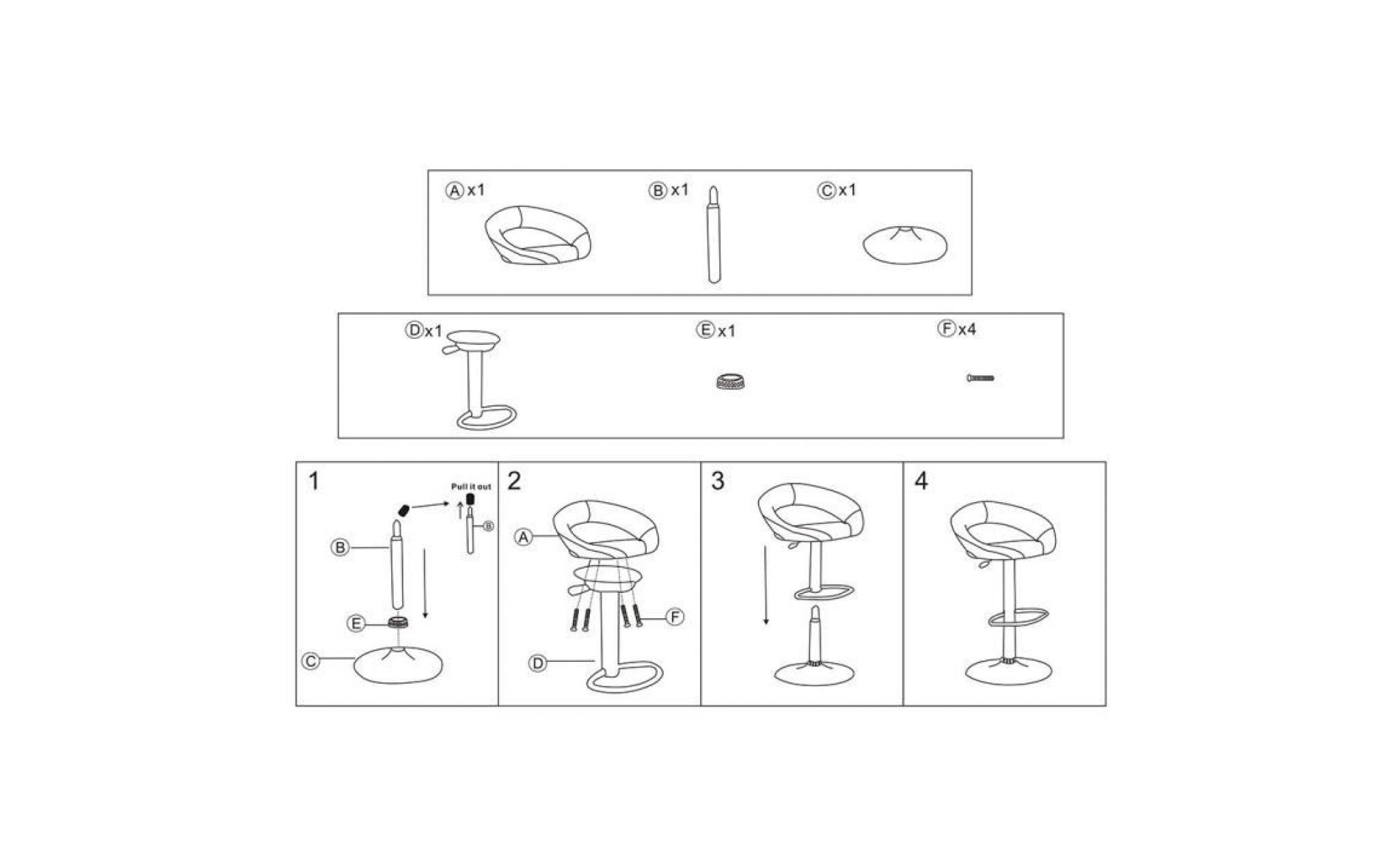 tabouret de bar lot de 2 tabouret de bar design chaise de bar noir tectake pivotant et. Black Bedroom Furniture Sets. Home Design Ideas